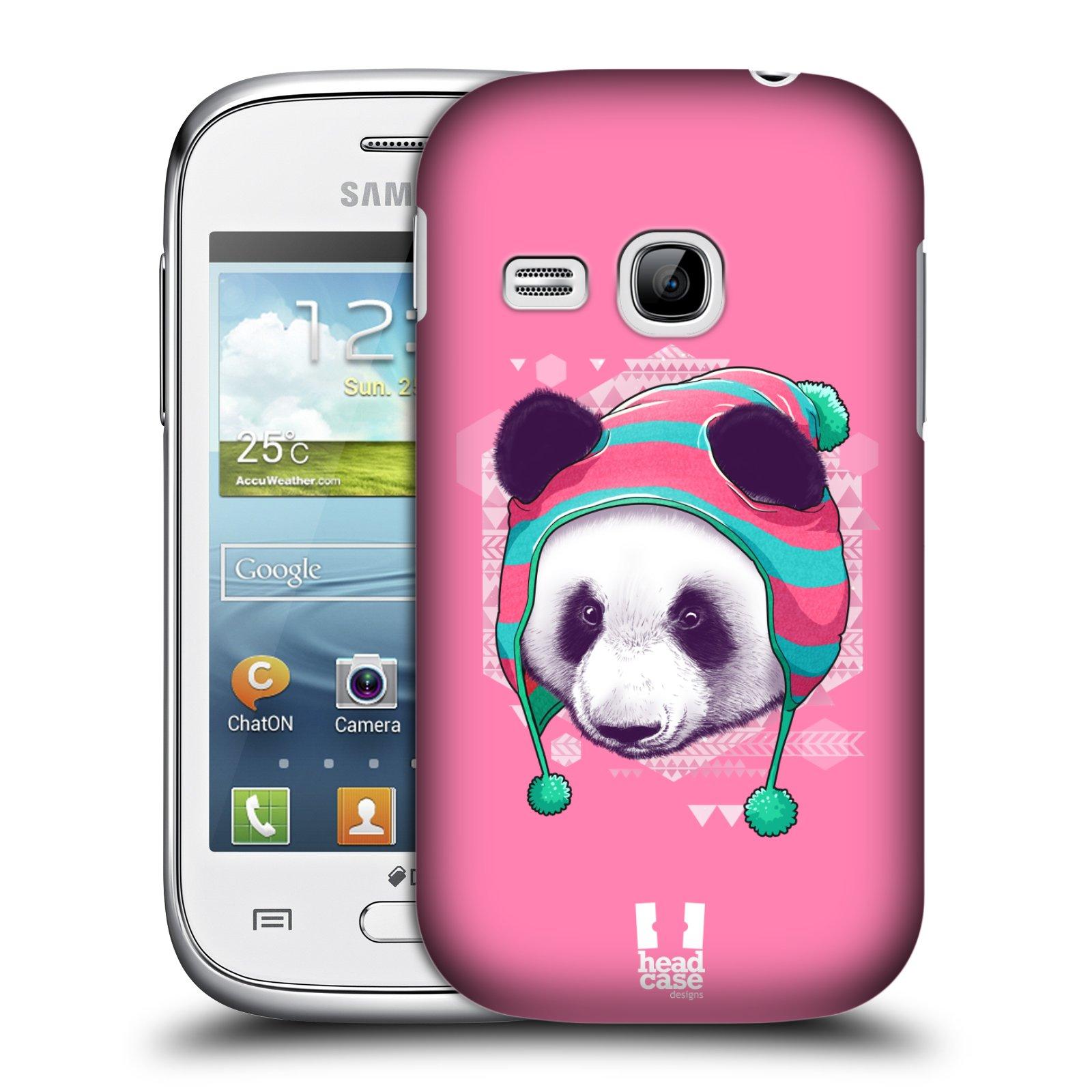 Plastové pouzdro na mobil Samsung Galaxy Young HEAD CASE HIPSTR PANDA