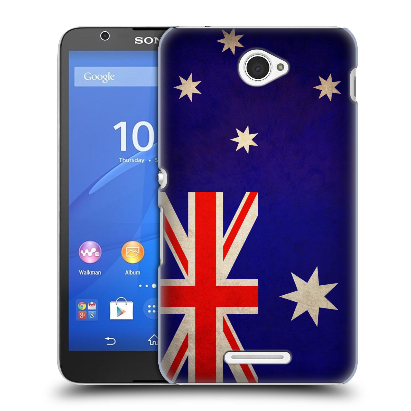 Plastové pouzdro na mobil Sony Xperia E4 E2105 HEAD CASE VLAJKA AUSTRÁLIE (Kryt či obal na mobilní telefon Sony Xperia E4 a E4 Dual SIM)