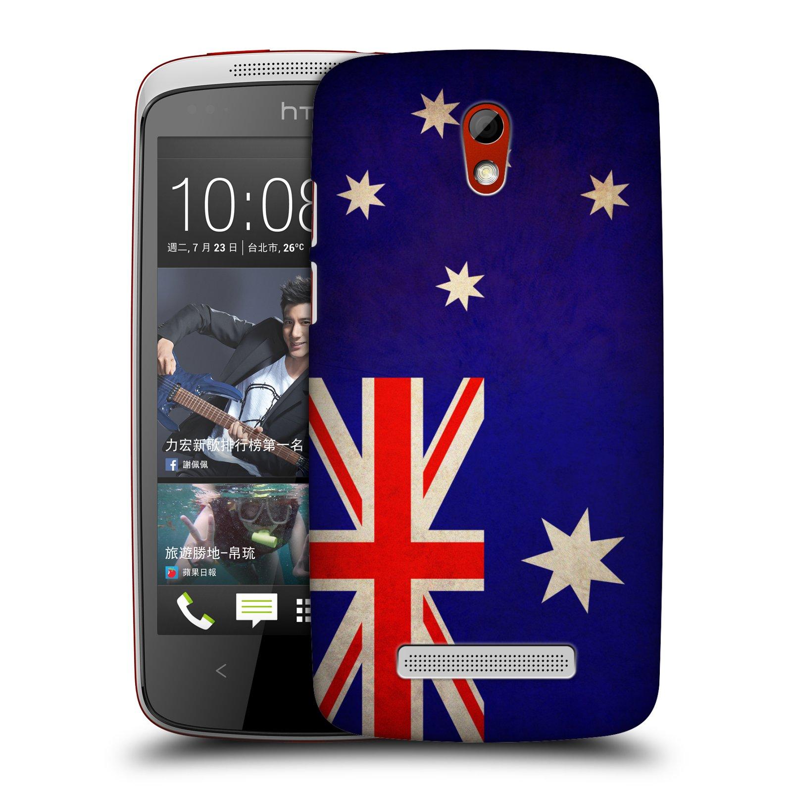 Plastové pouzdro na mobil HTC Desire 500 HEAD CASE VLAJKA AUSTRÁLIE (Kryt či obal na mobilní telefon HTC Desire 500)