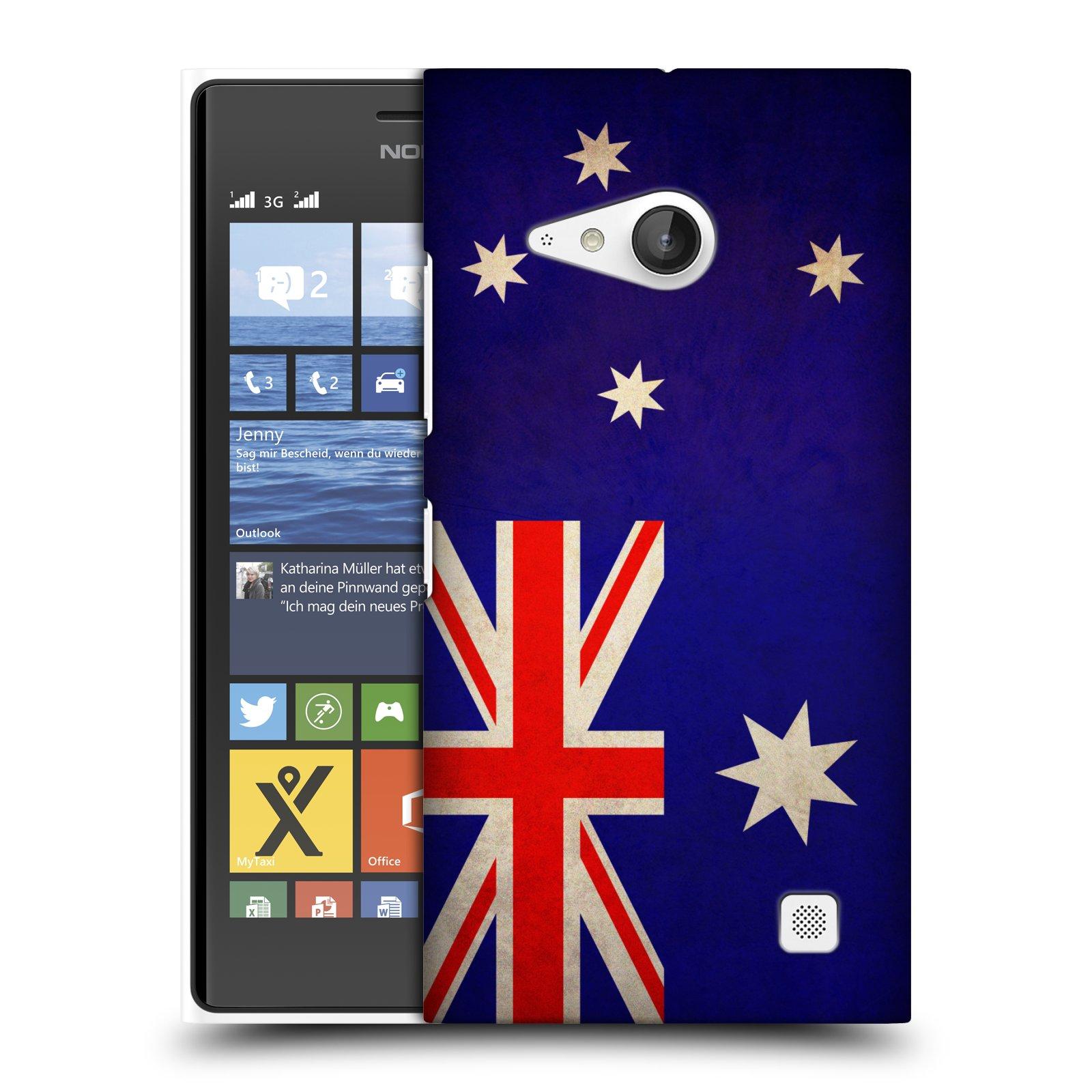 Plastové pouzdro na mobil Nokia Lumia 730 Dual SIM HEAD CASE VLAJKA AUSTRÁLIE (Kryt či obal na mobilní telefon Nokia Lumia 730 Dual SIM)