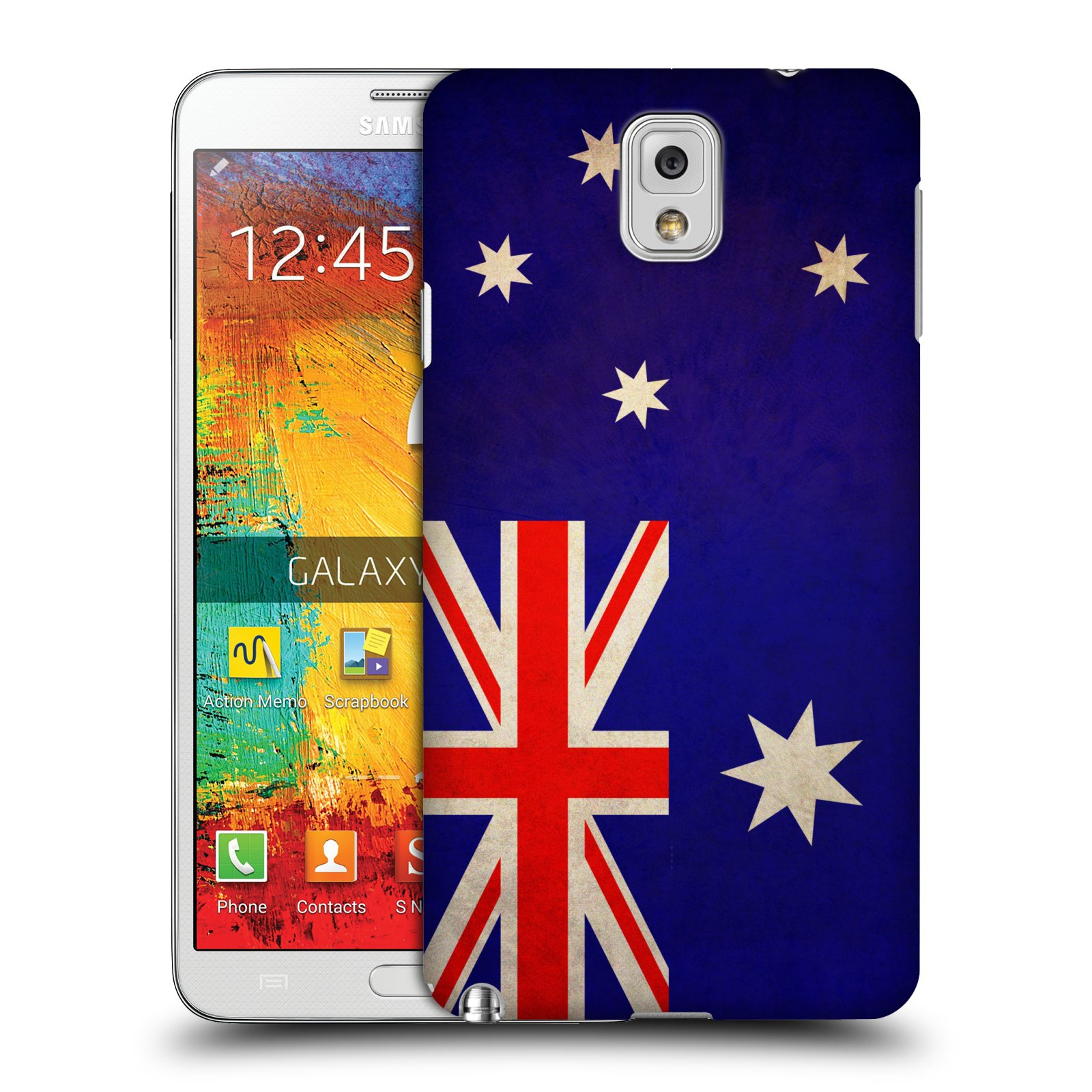 Plastové pouzdro na mobil Samsung Galaxy Note 3 HEAD CASE VLAJKA AUSTRÁLIE (Kryt či obal na mobilní telefon Samsung Galaxy Note 3 SM-N9005)