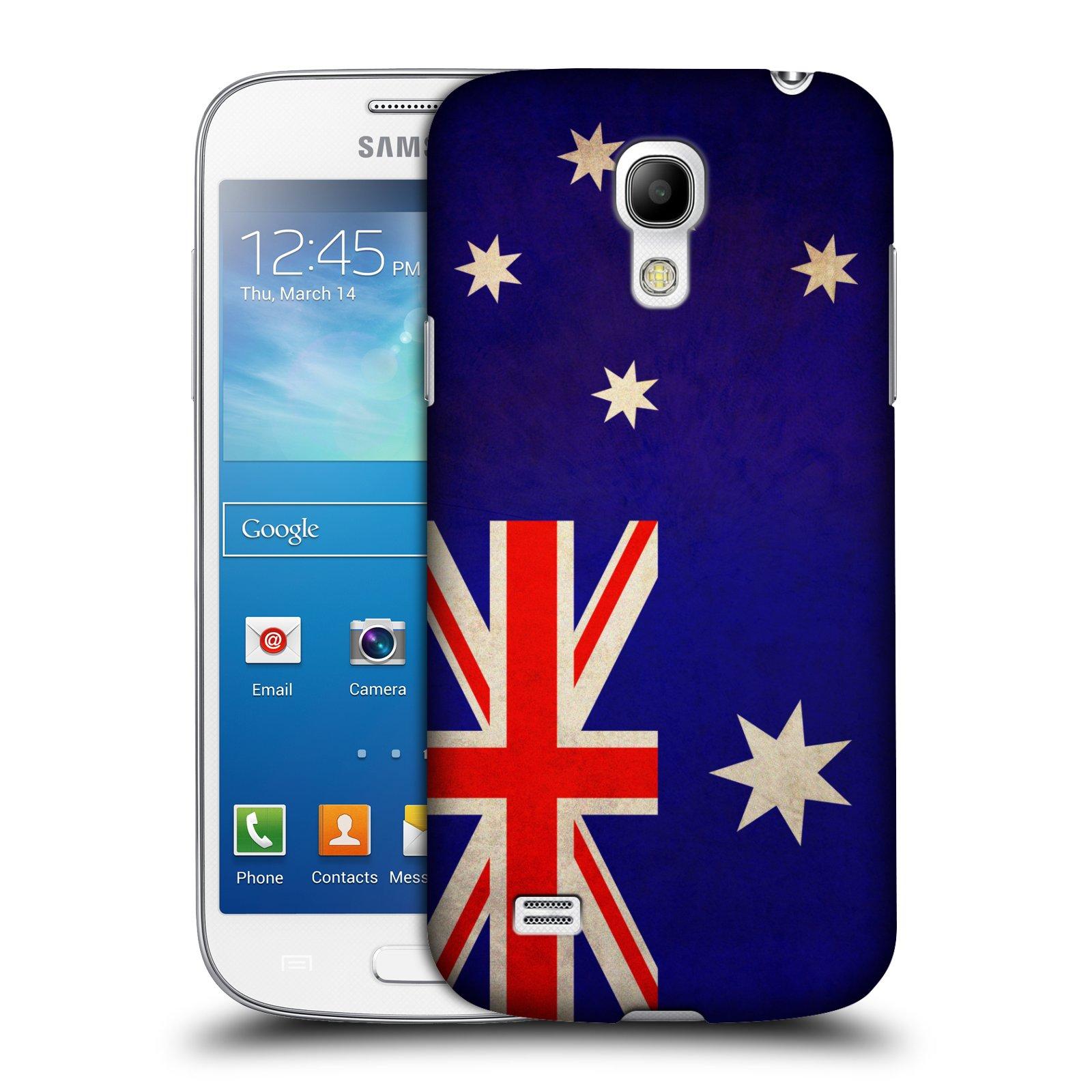 Plastové pouzdro na mobil Samsung Galaxy S4 Mini HEAD CASE VLAJKA AUSTRÁLIE (Kryt či obal na mobilní telefon Samsung Galaxy S4 Mini GT-i9195 / i9190)