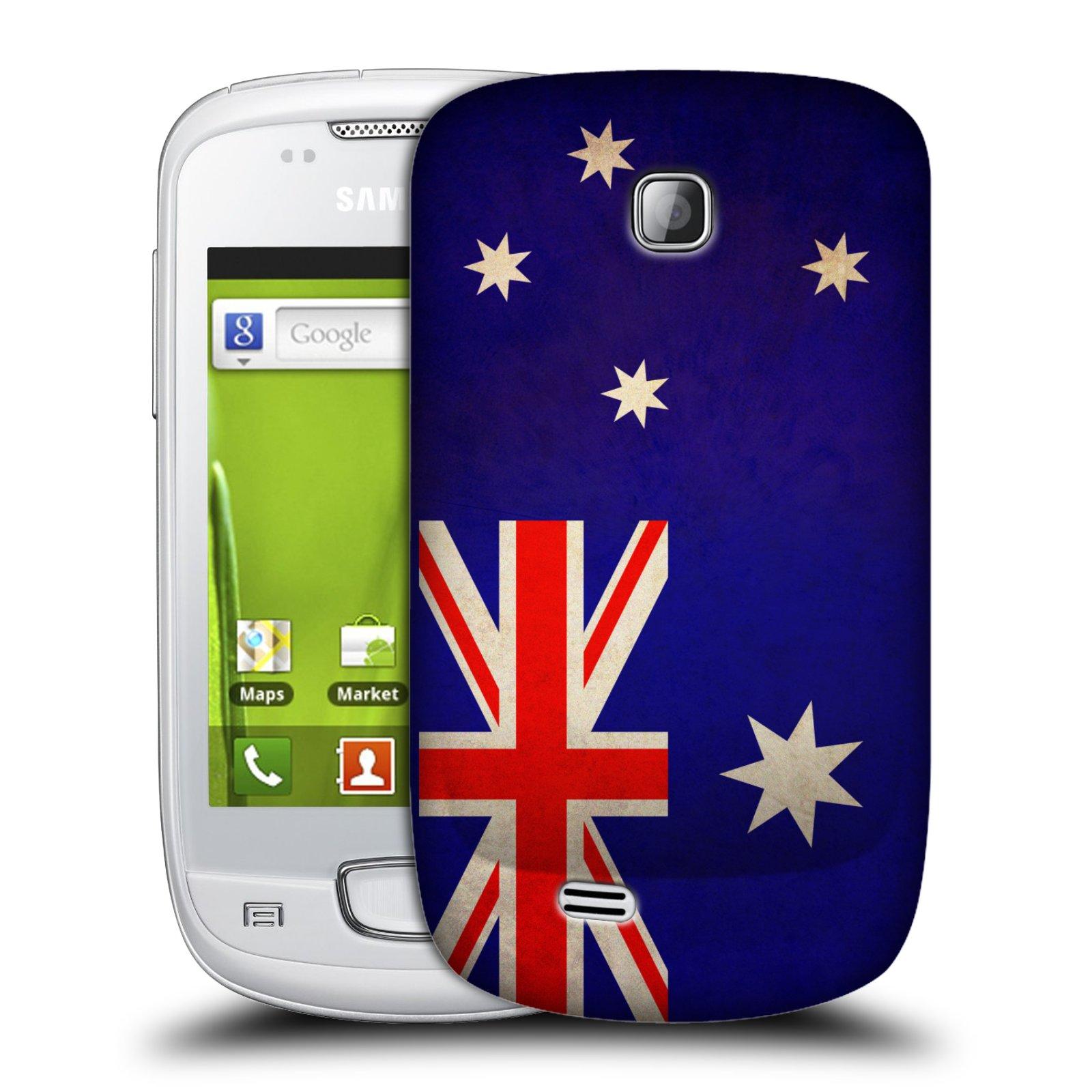 Plastové pouzdro na mobil Samsung Galaxy Mini HEAD CASE VLAJKA AUSTRÁLIE (Kryt či obal na mobilní telefon Samsung Galaxy Mini GT-S5570 / GT-S5570i)