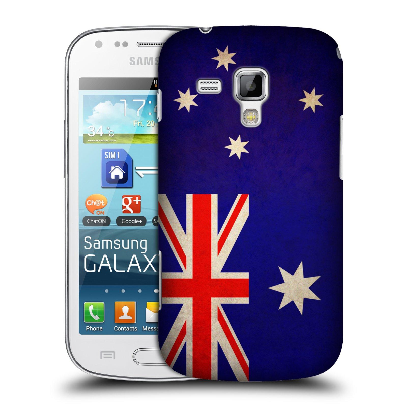 Plastové pouzdro na mobil Samsung Galaxy S Duos HEAD CASE VLAJKA AUSTRÁLIE (Kryt či obal na mobilní telefon Samsung Galaxy S Duos GT-S7562)