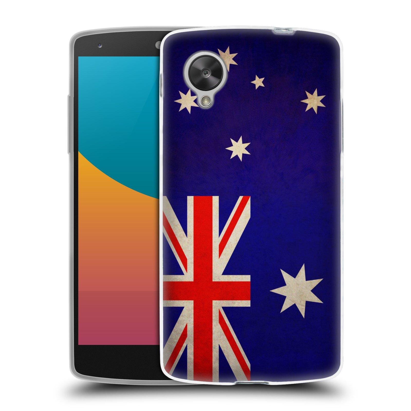 Silikonové pouzdro na mobil LG Nexus 5 HEAD CASE VLAJKA AUSTRÁLIE (Silikonový kryt či obal na mobilní telefon LG Google Nexus 5 D821)