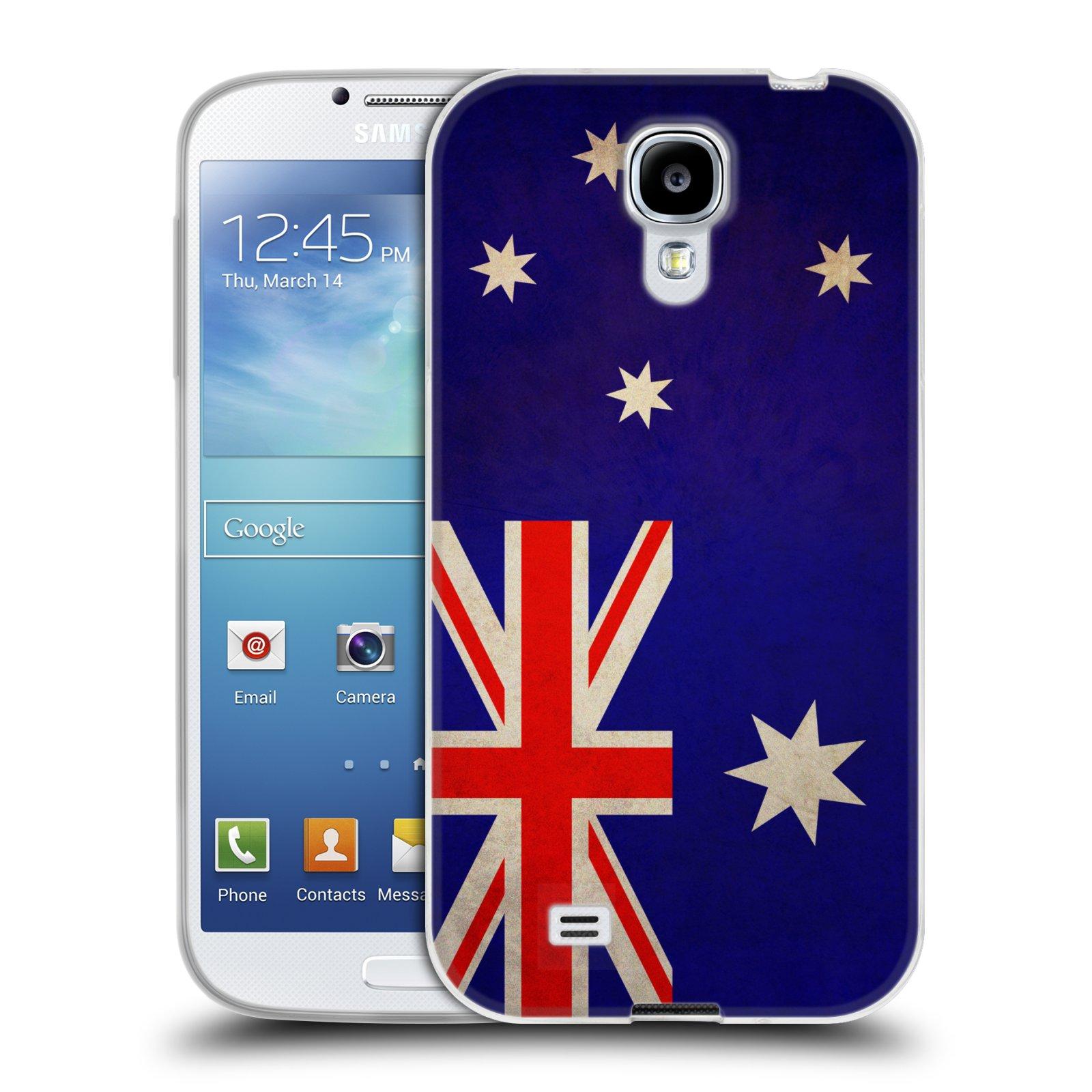 Silikonové pouzdro na mobil Samsung Galaxy S4 HEAD CASE VLAJKA AUSTRÁLIE (Silikonový kryt či obal na mobilní telefon Samsung Galaxy S4 GT-i9505 / i9500)