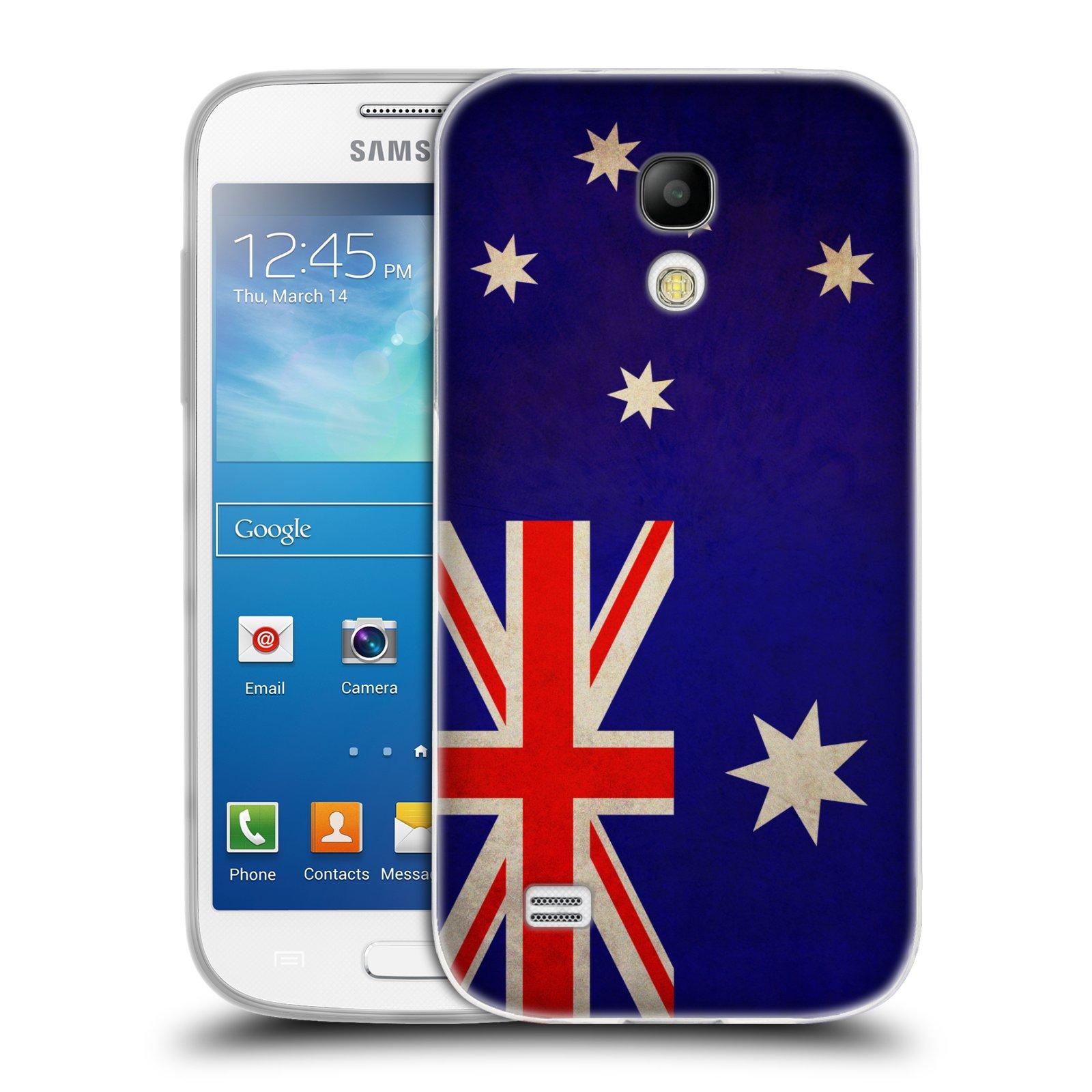 Silikonové pouzdro na mobil Samsung Galaxy S4 Mini HEAD CASE VLAJKA AUSTRÁLIE (Silikonový kryt či obal na mobilní telefon Samsung Galaxy S4 Mini GT-i9195 / i9190)