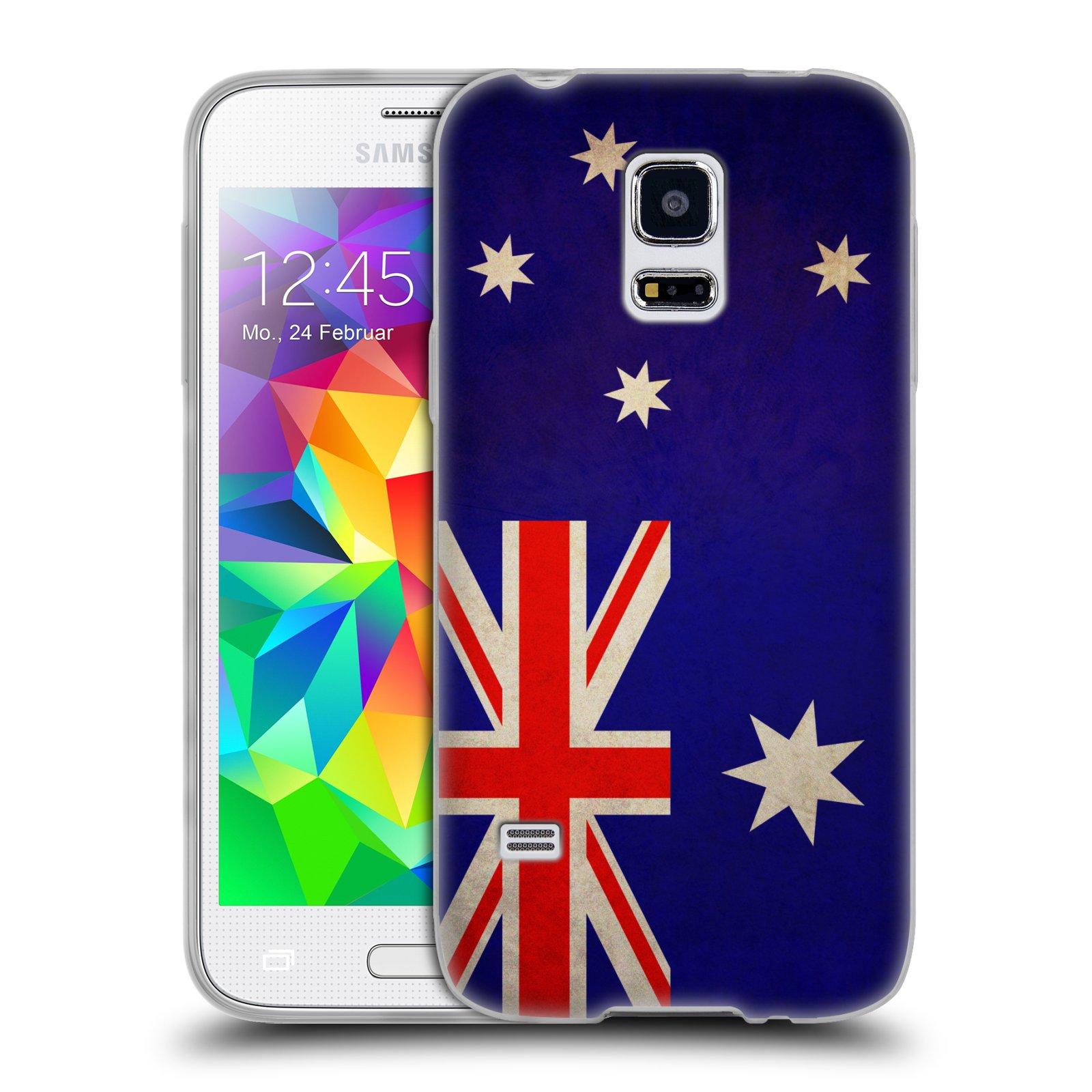 Silikonové pouzdro na mobil Samsung Galaxy S5 Mini HEAD CASE VLAJKA AUSTRÁLIE (Silikonový kryt či obal na mobilní telefon Samsung Galaxy S5 Mini SM-G800F)