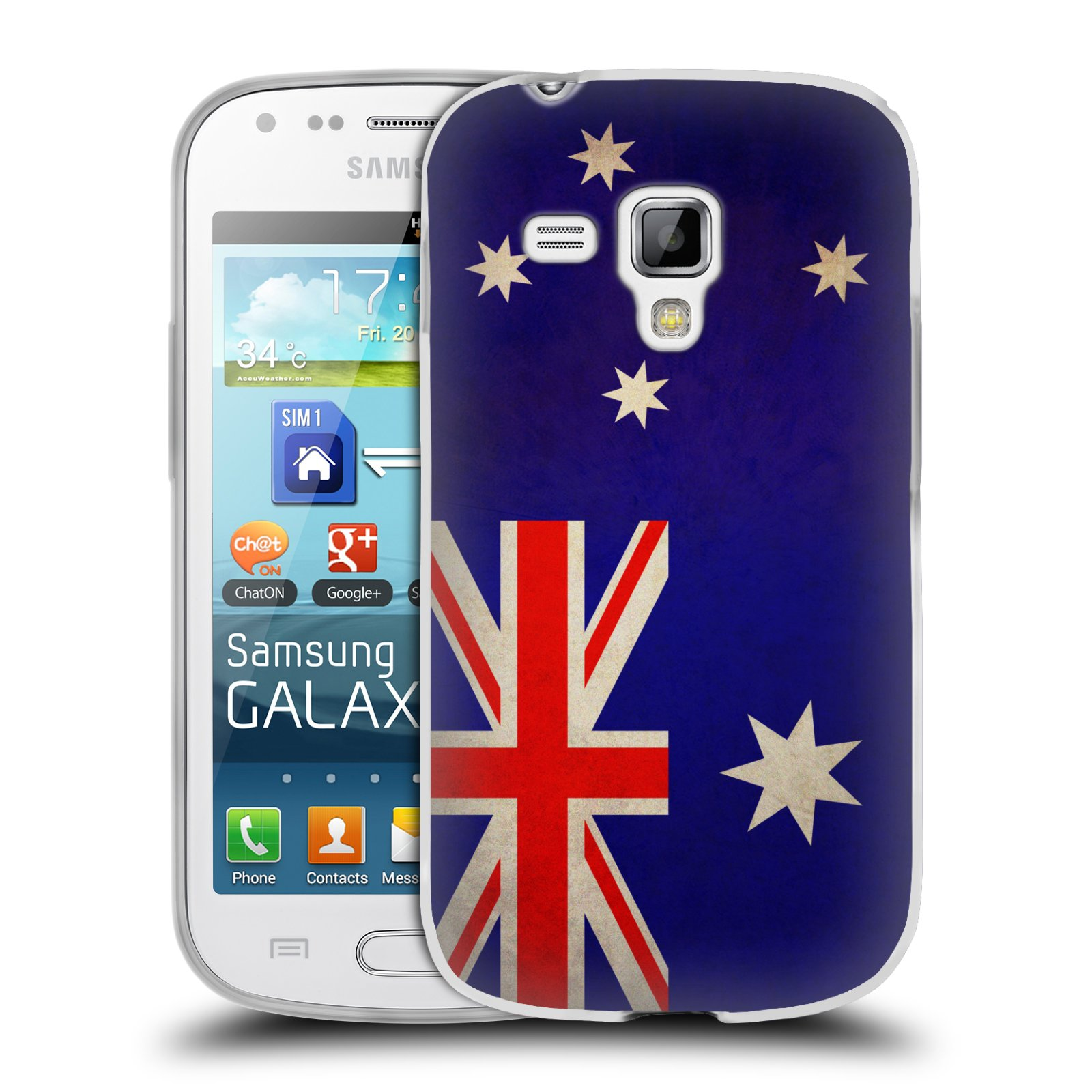 Silikonové pouzdro na mobil Samsung Galaxy Trend Plus HEAD CASE VLAJKA AUSTRÁLIE (Silikonový kryt či obal na mobilní telefon Samsung Galaxy Trend Plus GT-S7580)