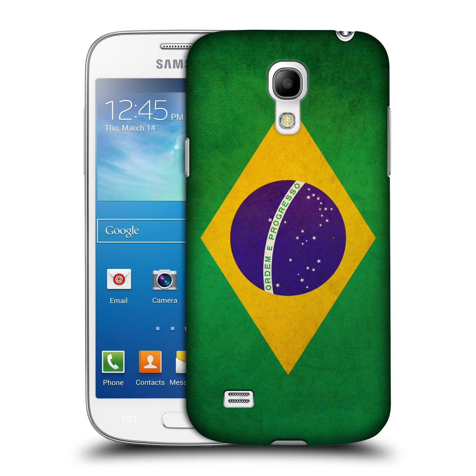 Plastové pouzdro na mobil Samsung Galaxy S4 Mini VE HEAD CASE VLAJKA BRAZÍLIE (Kryt či obal na mobilní telefon Samsung Galaxy S4 Mini VE GT-i9195i)