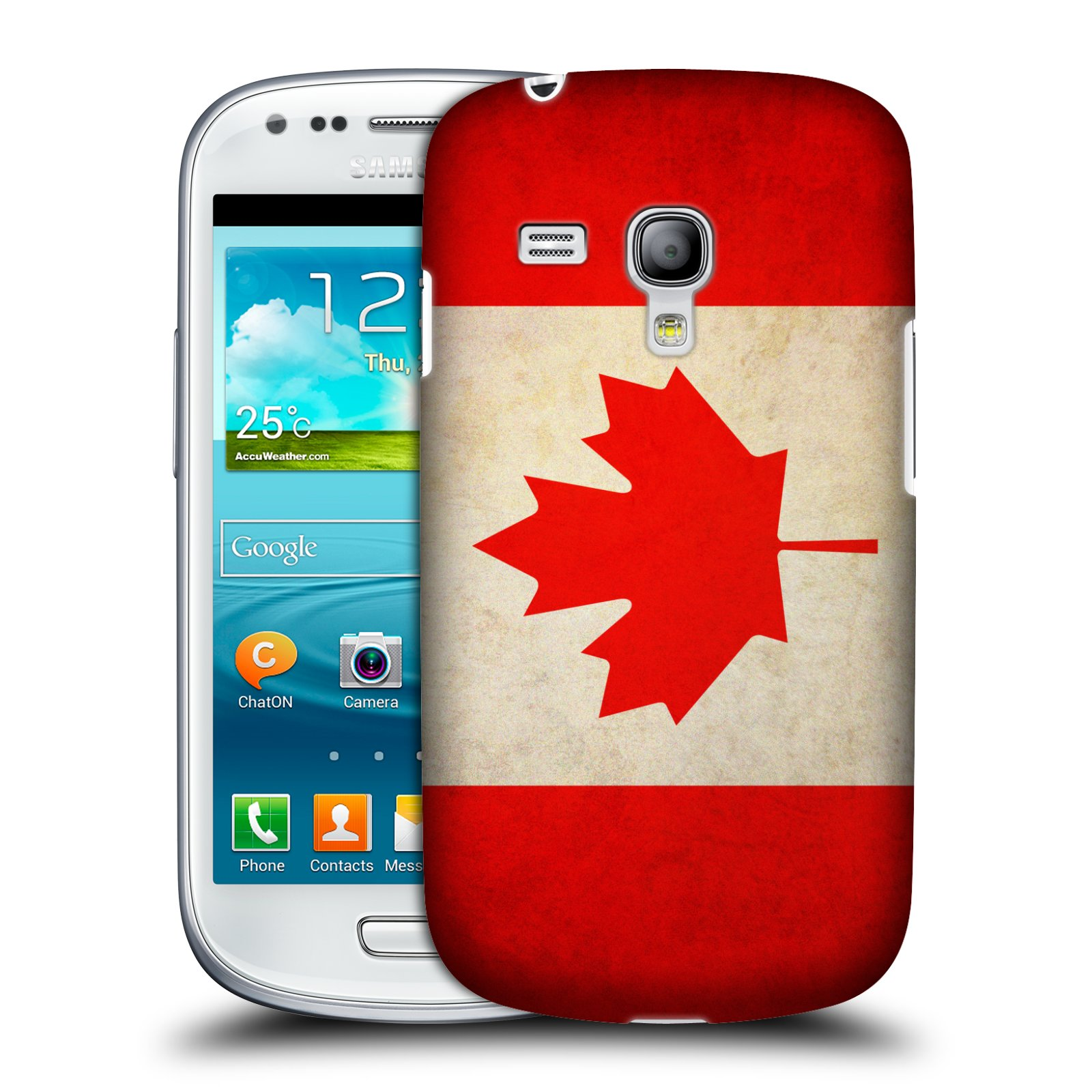 Plastové pouzdro na mobil Samsung Galaxy S III Mini HEAD CASE VLAJKA KANADA (Kryt či obal na mobilní telefon Samsung Galaxy S III Mini GT-i8190)