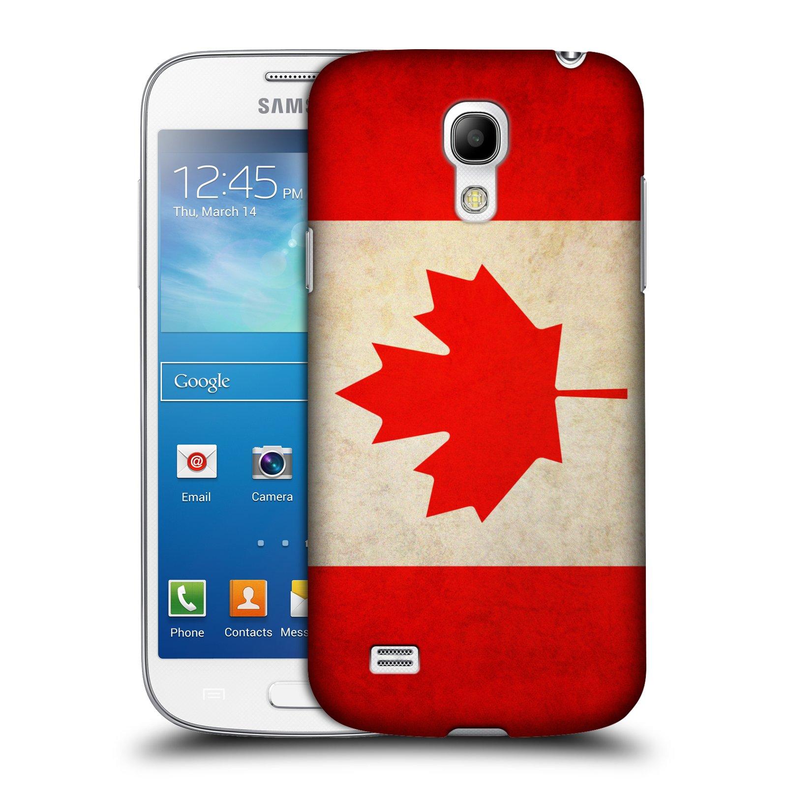 Plastové pouzdro na mobil Samsung Galaxy S4 Mini VE HEAD CASE VLAJKA KANADA (Kryt či obal na mobilní telefon Samsung Galaxy S4 Mini VE GT-i9195i)