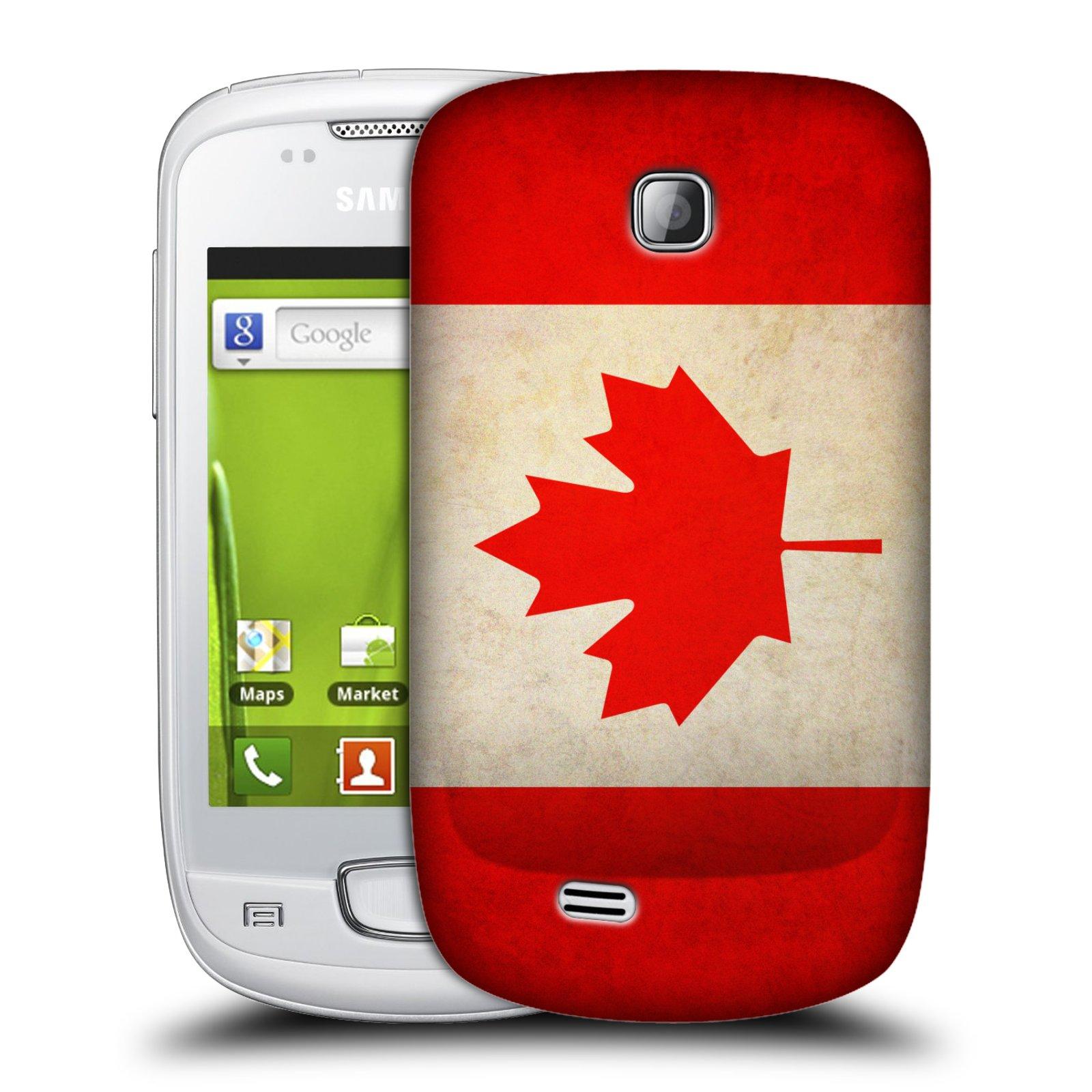 Plastové pouzdro na mobil Samsung Galaxy Mini HEAD CASE VLAJKA KANADA (Kryt či obal na mobilní telefon Samsung Galaxy Mini GT-S5570 / GT-S5570i)