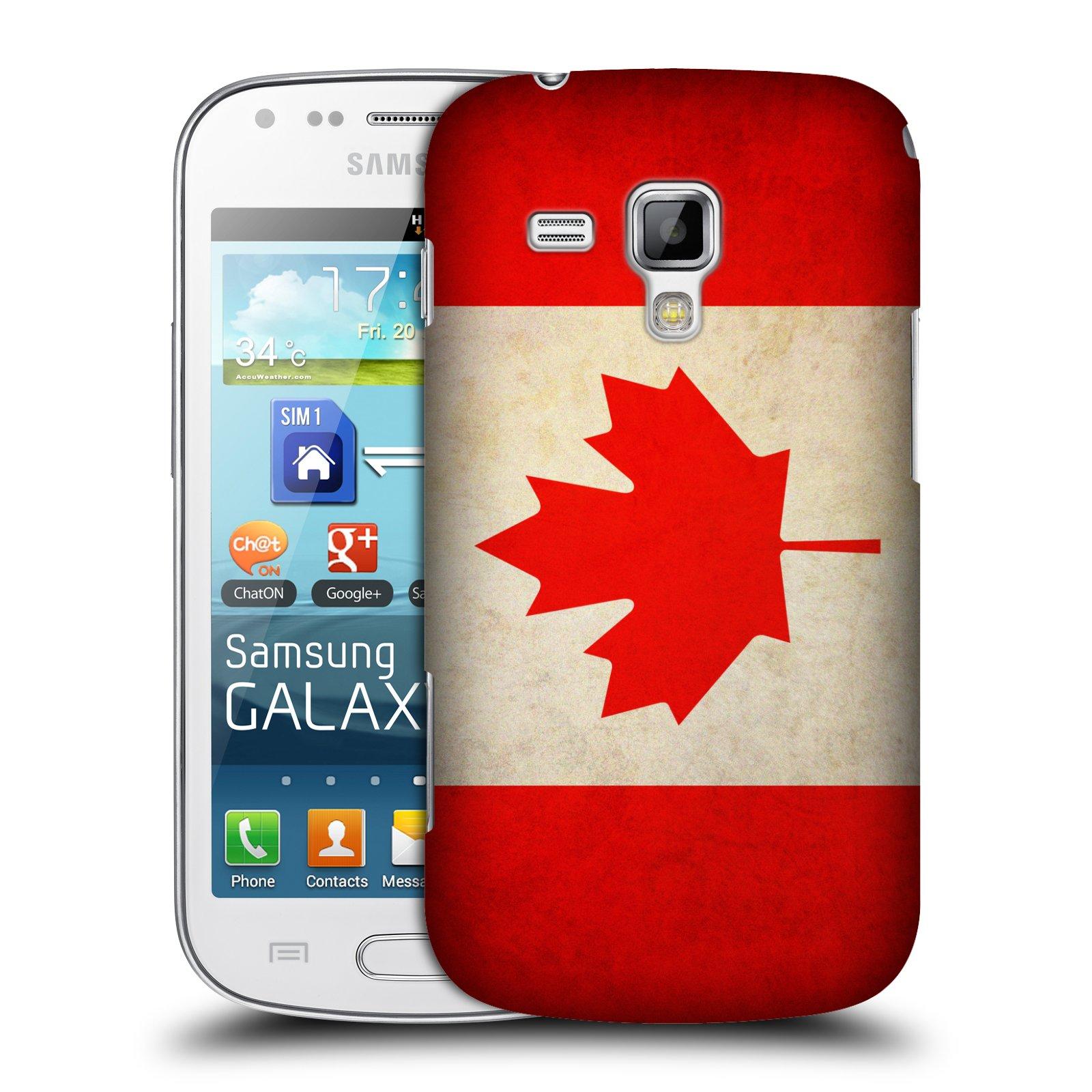 Plastové pouzdro na mobil Samsung Galaxy Trend Plus HEAD CASE VLAJKA KANADA (Kryt či obal na mobilní telefon Samsung Galaxy Trend Plus GT-S7580)