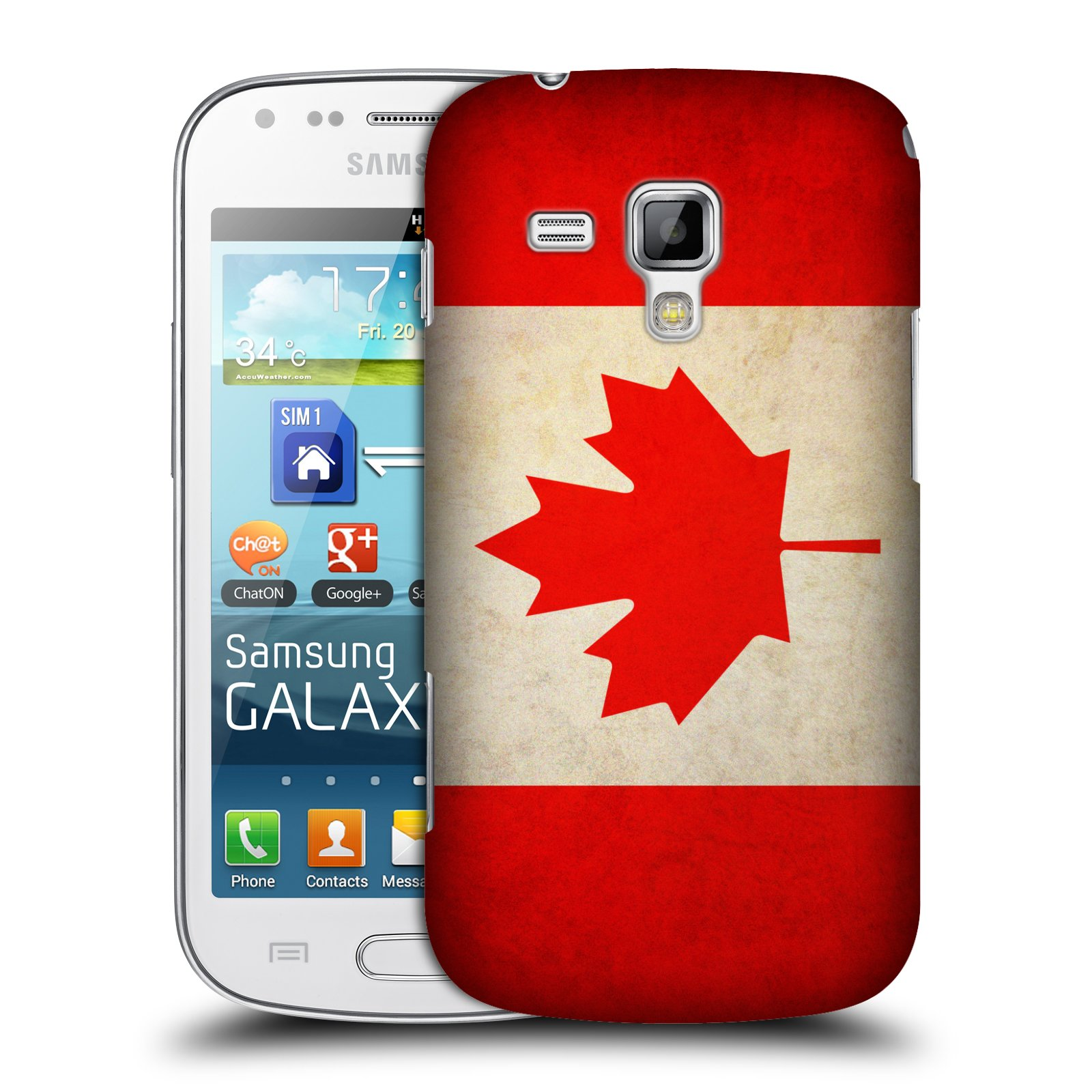 Plastové pouzdro na mobil Samsung Galaxy Trend Plus HEAD CASE VLAJKA KANADA