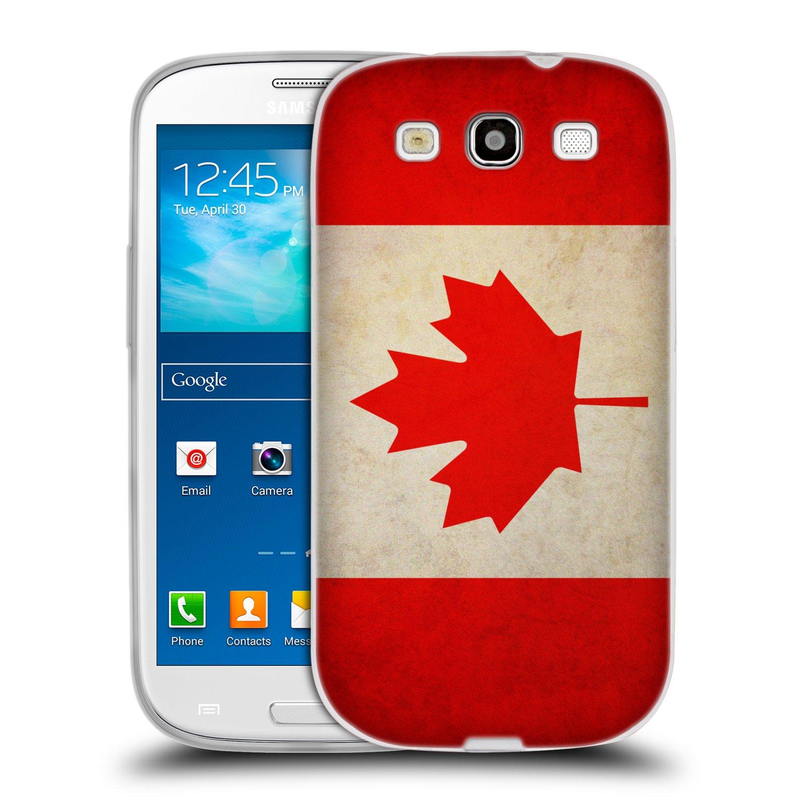 Silikonové pouzdro na mobil Samsung Galaxy S3 Neo HEAD CASE VLAJKA KANADA (Silikonový kryt či obal na mobilní telefon Samsung Galaxy S3 Neo GT-i9301i)