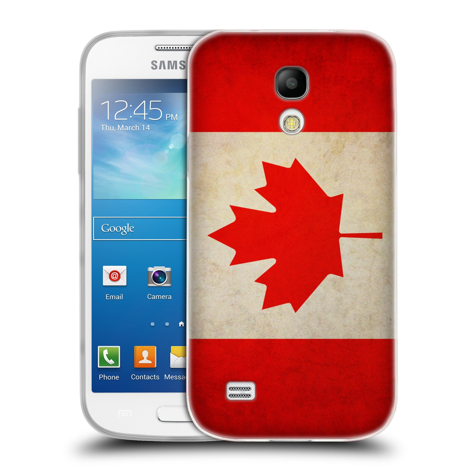 Silikonové pouzdro na mobil Samsung Galaxy S4 Mini HEAD CASE VLAJKA KANADA (Silikonový kryt či obal na mobilní telefon Samsung Galaxy S4 Mini GT-i9195 / i9190)