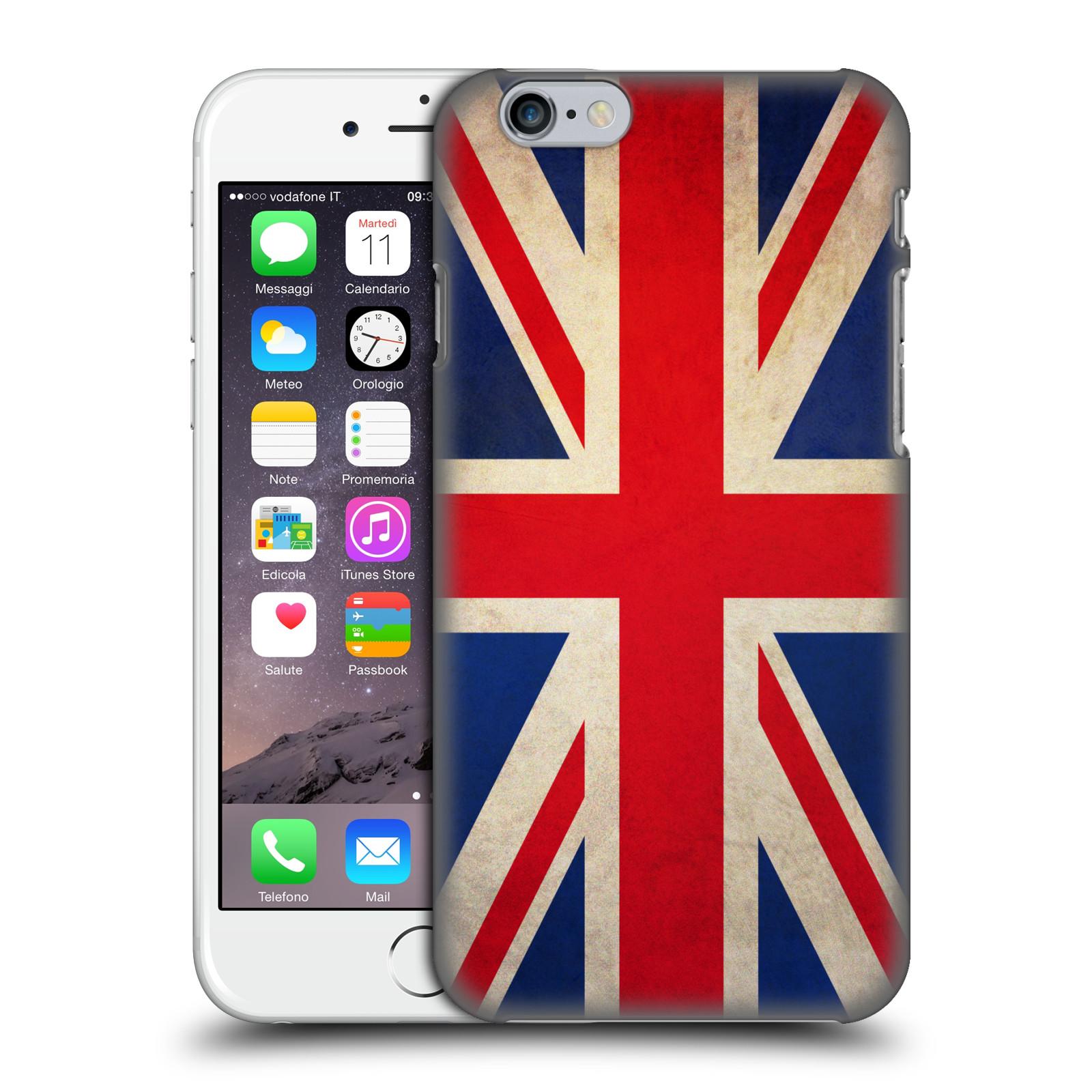Plastové pouzdro na mobil Apple iPhone 6 a 6S HEAD CASE VLAJKA VELKÁ BRITÁNIE
