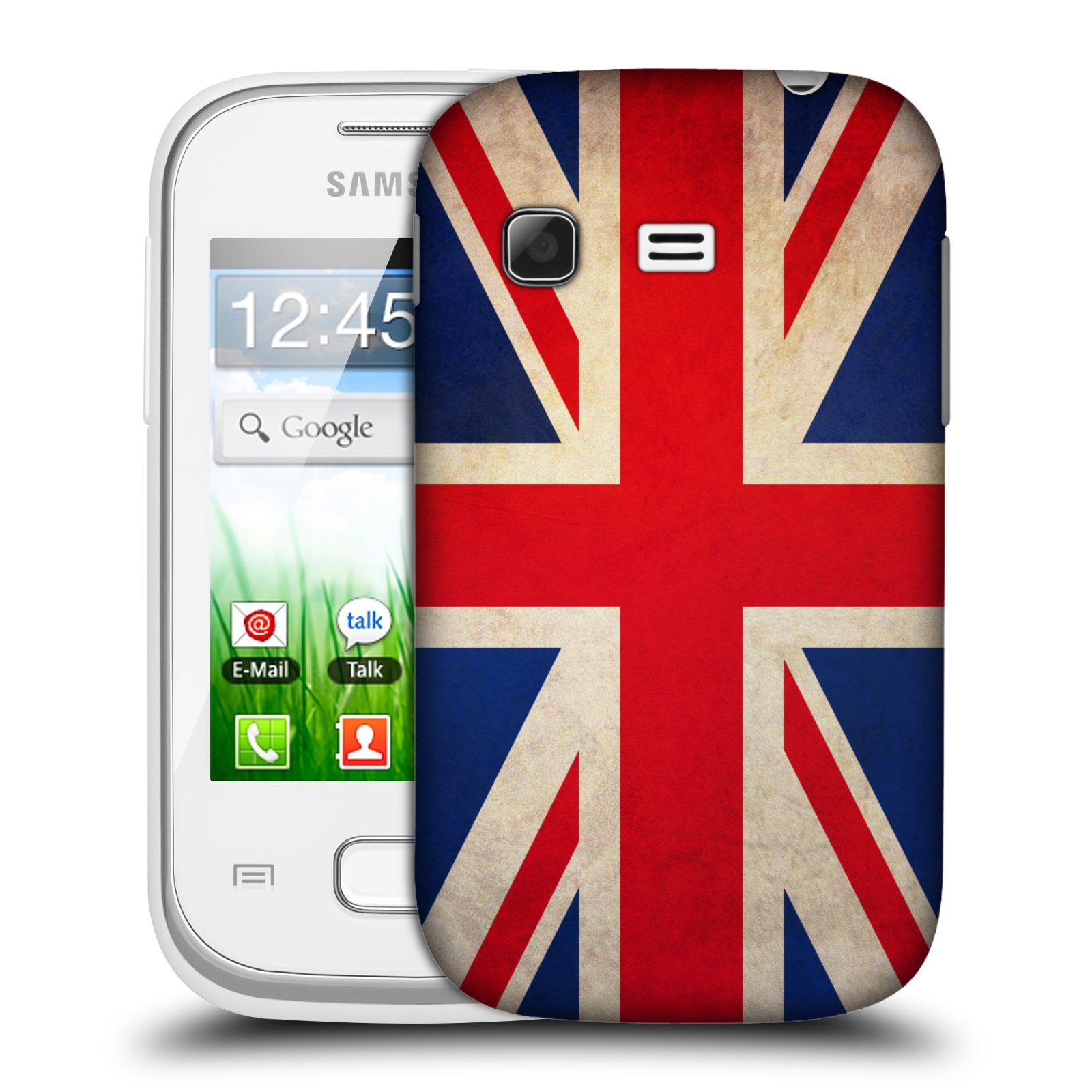 Plastové pouzdro na mobil Samsung Galaxy Pocket HEAD CASE VLAJKA VELKÁ BRITÁNIE (Kryt či obal na mobilní telefon Samsung Galaxy Pocket GT-S5300)