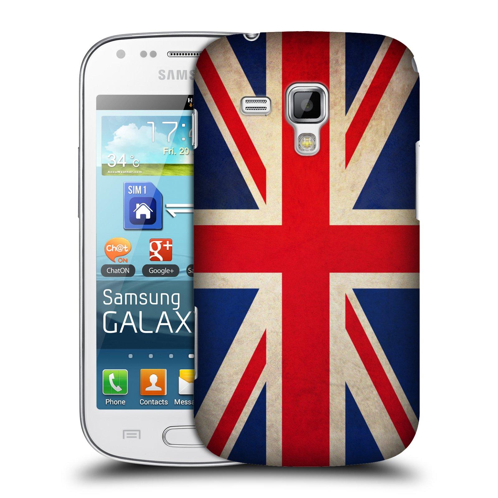 Plastové pouzdro na mobil Samsung Galaxy Trend Plus HEAD CASE VLAJKA VELKÁ BRITÁNIE