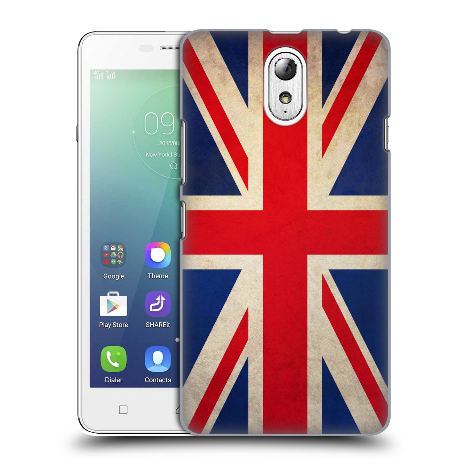 Plastové pouzdro na mobil Lenovo Vibe P1m HEAD CASE VLAJKA VELKÁ BRITÁNIE