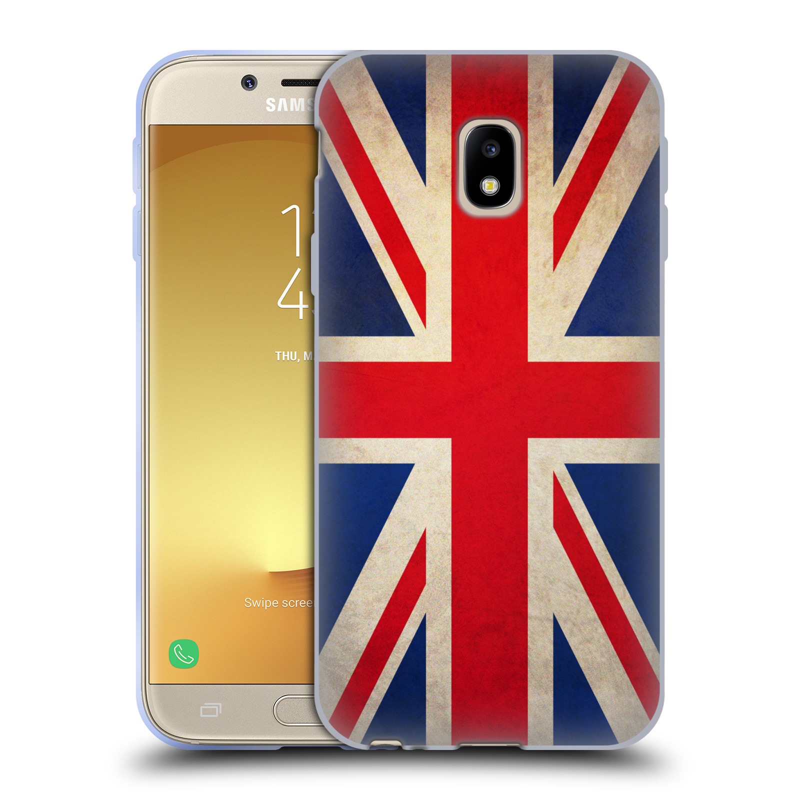Silikonové pouzdro na mobil Samsung Galaxy J3 (2017) - Head Case - VLAJKA VELKÁ BRITÁNIE