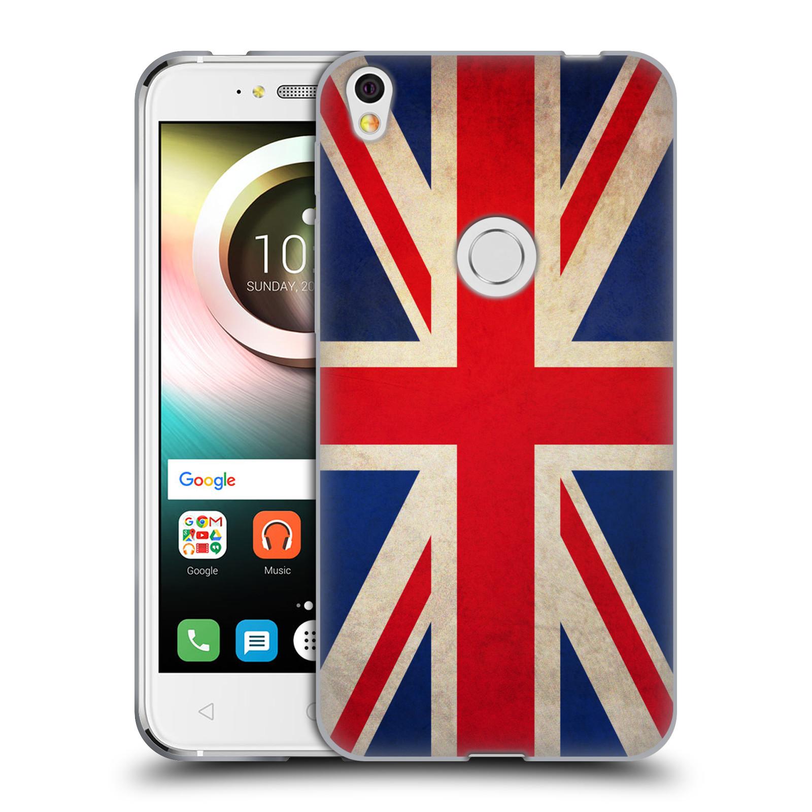 Silikonové pouzdro na mobil Alcatel Shine Lite Head Case - VLAJKA VELKÁ BRITÁNIE