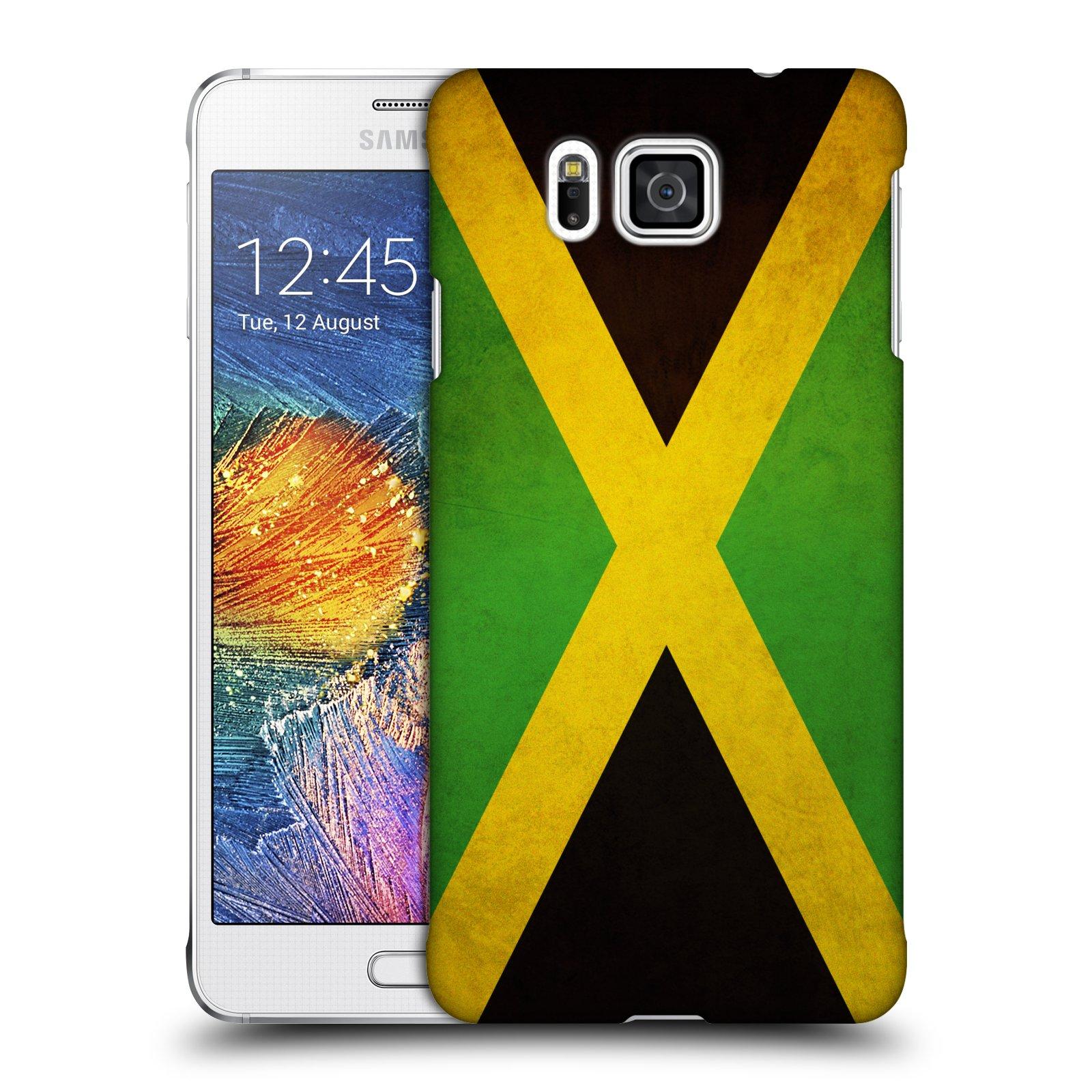 Plastové pouzdro na mobil Samsung Galaxy Alpha HEAD CASE VLAJKA JAMAJKA