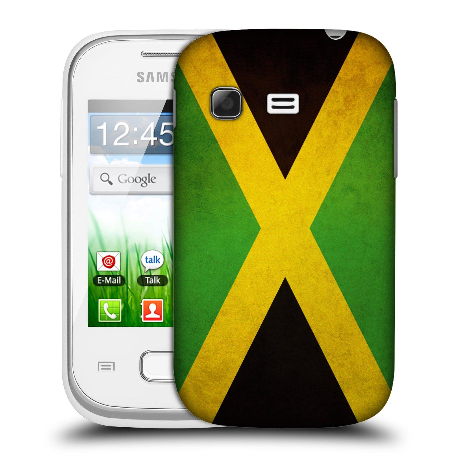 Plastové pouzdro na mobil Samsung Galaxy Pocket HEAD CASE VLAJKA JAMAJKA (Kryt či obal na mobilní telefon Samsung Galaxy Pocket GT-S5300)
