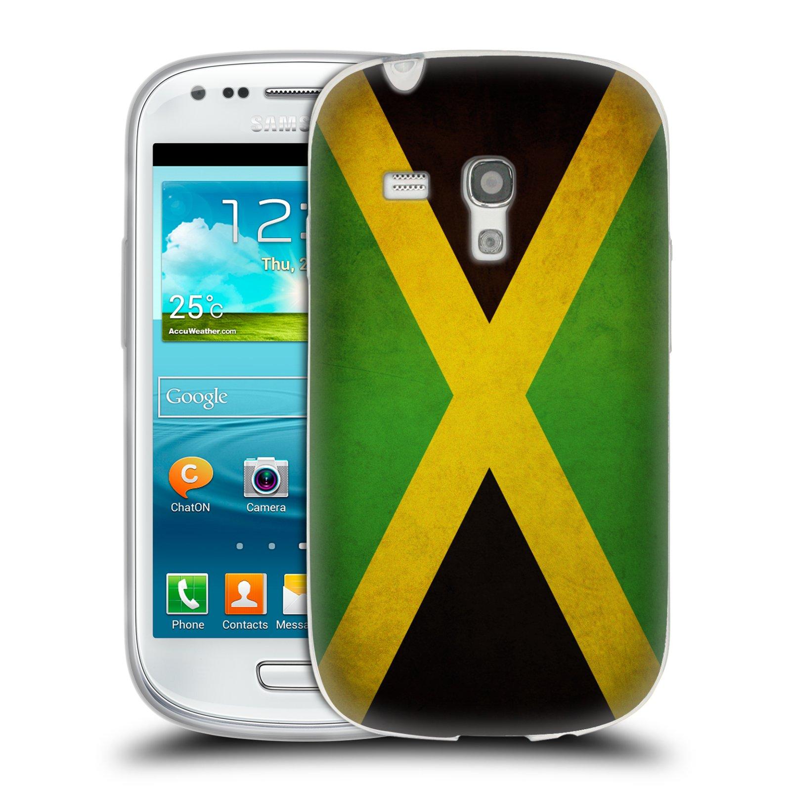Silikonové pouzdro na mobil Samsung Galaxy S III Mini HEAD CASE VLAJKA JAMAJKA (Silikonový kryt či obal na mobilní telefon Samsung Galaxy S III Mini GT-i8190)