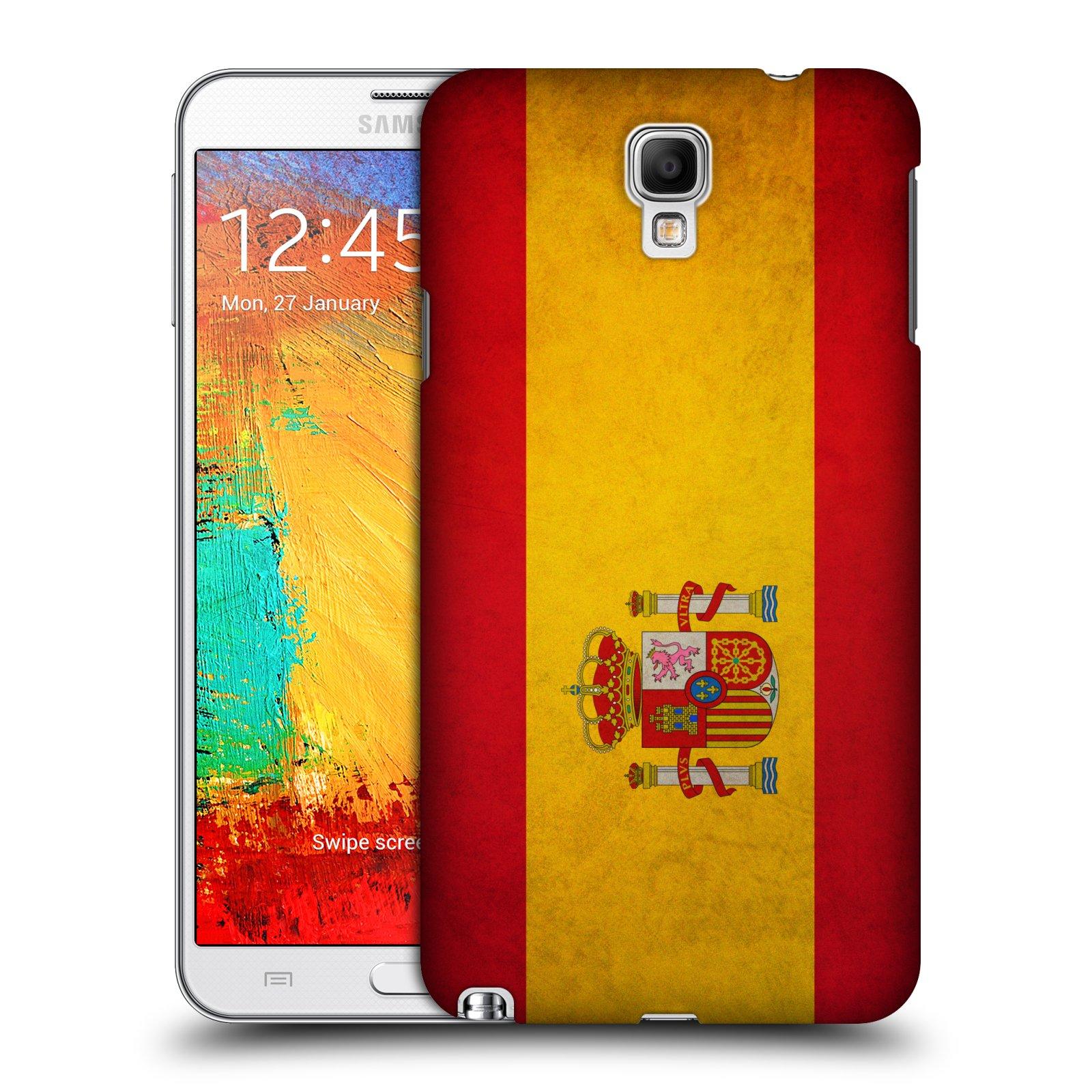Plastové pouzdro na mobil Samsung Galaxy Note 3 Neo HEAD CASE VLAJKA ŠPANĚLSKO (Kryt či obal na mobilní telefon Samsung Galaxy Note 3 Neo SM-N7505)