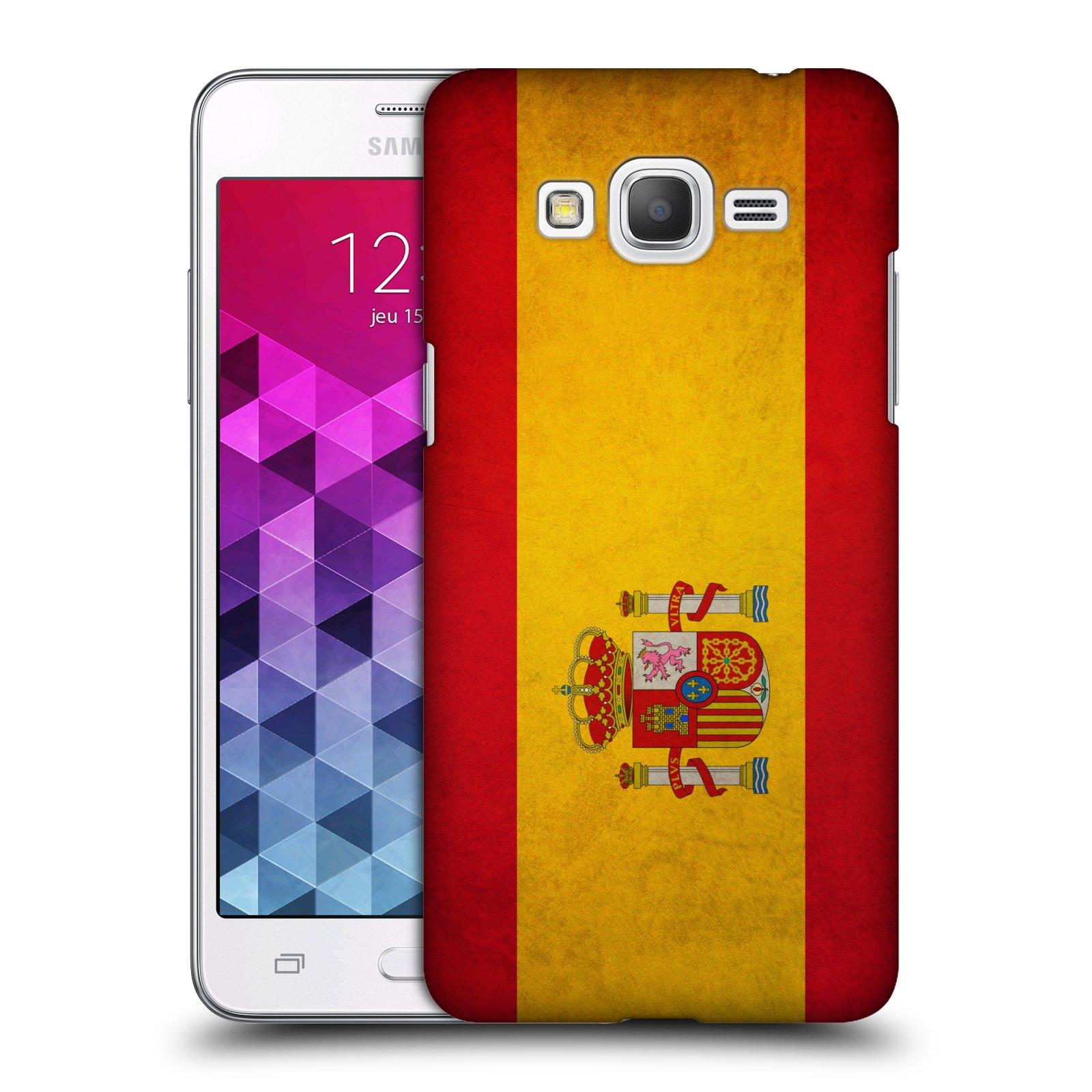 Plastové pouzdro na mobil Samsung Galaxy Grand Prime HEAD CASE VLAJKA ŠPANĚLSKO