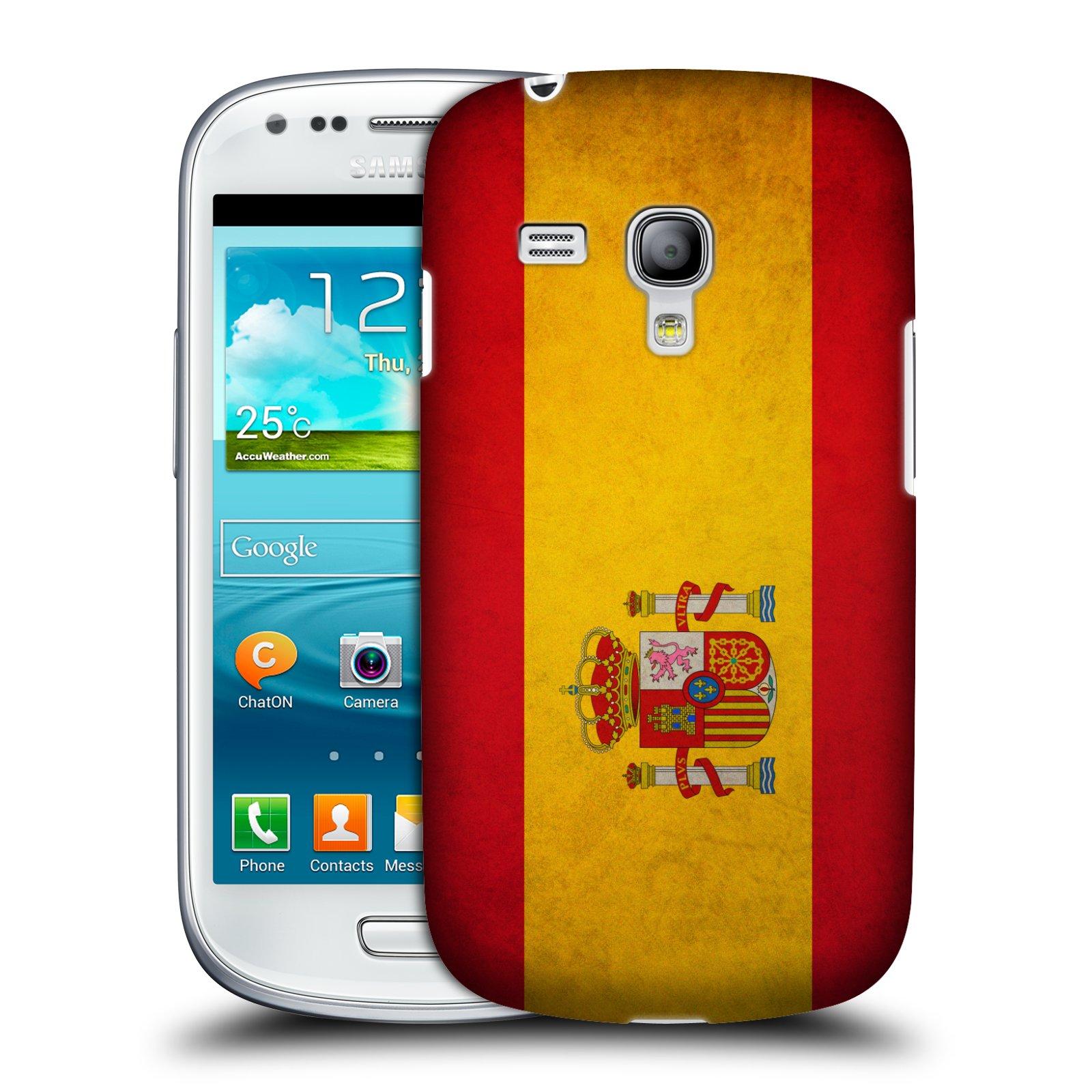 Plastové pouzdro na mobil Samsung Galaxy S III Mini HEAD CASE VLAJKA ŠPANĚLSKO (Kryt či obal na mobilní telefon Samsung Galaxy S III Mini GT-i8190)