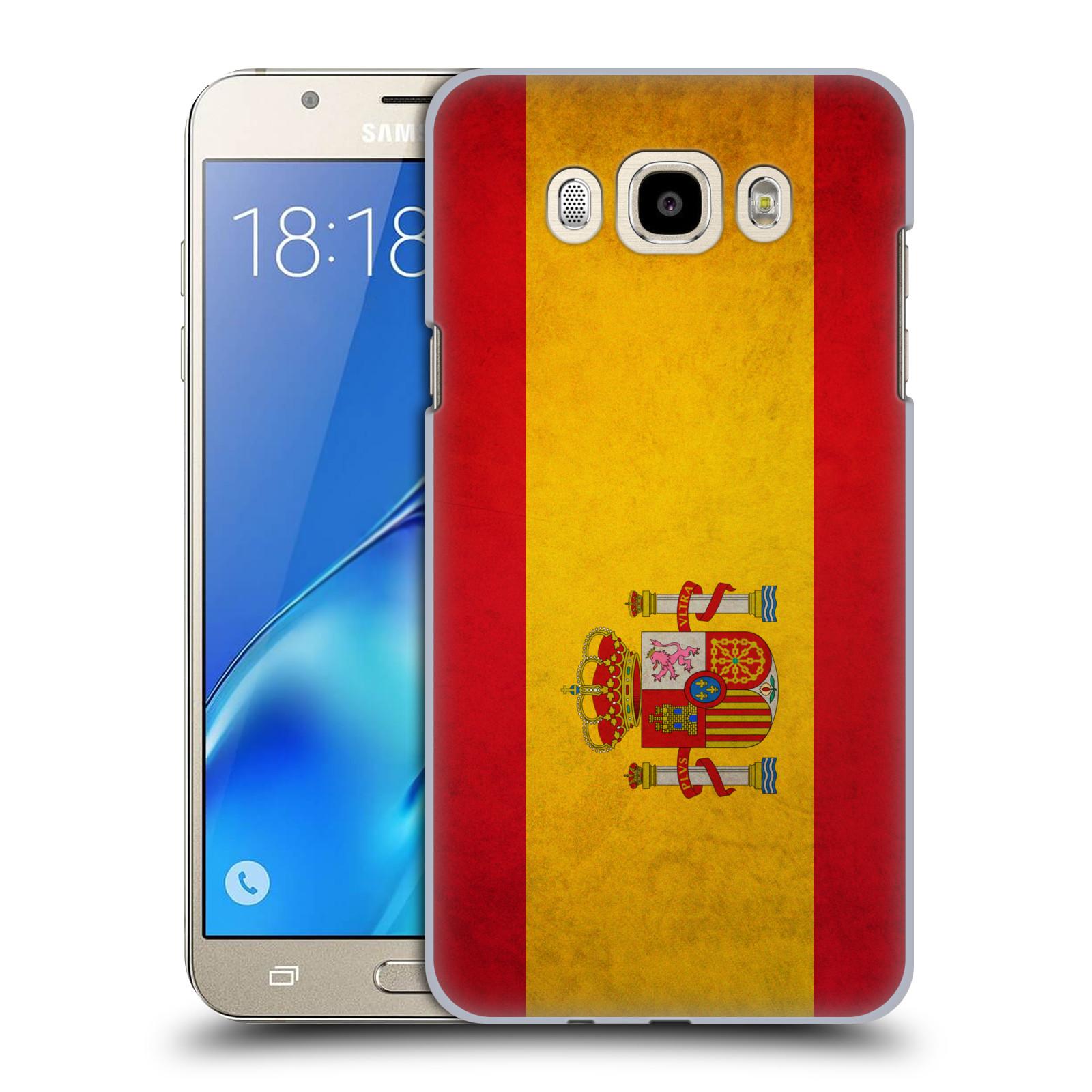 Plastové pouzdro na mobil Samsung Galaxy J7 (2016) HEAD CASE VLAJKA ŠPANĚLSKO