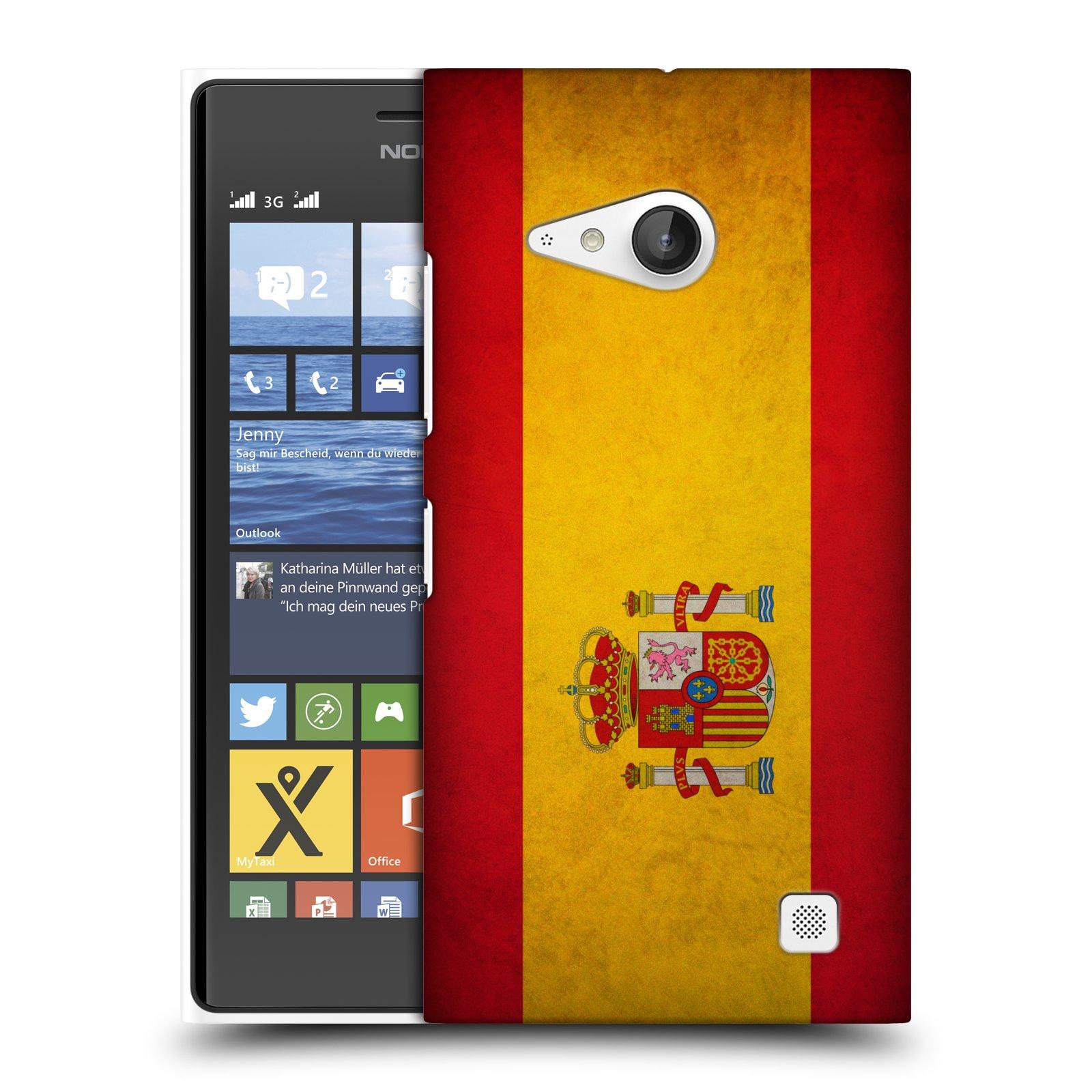 Plastové pouzdro na mobil Nokia Lumia 730 Dual SIM HEAD CASE VLAJKA ŠPANĚLSKO (Kryt či obal na mobilní telefon Nokia Lumia 730 Dual SIM)