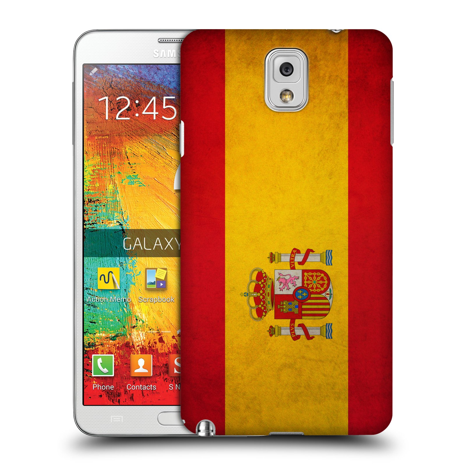 Plastové pouzdro na mobil Samsung Galaxy Note 3 HEAD CASE VLAJKA ŠPANĚLSKO (Kryt či obal na mobilní telefon Samsung Galaxy Note 3 SM-N9005)