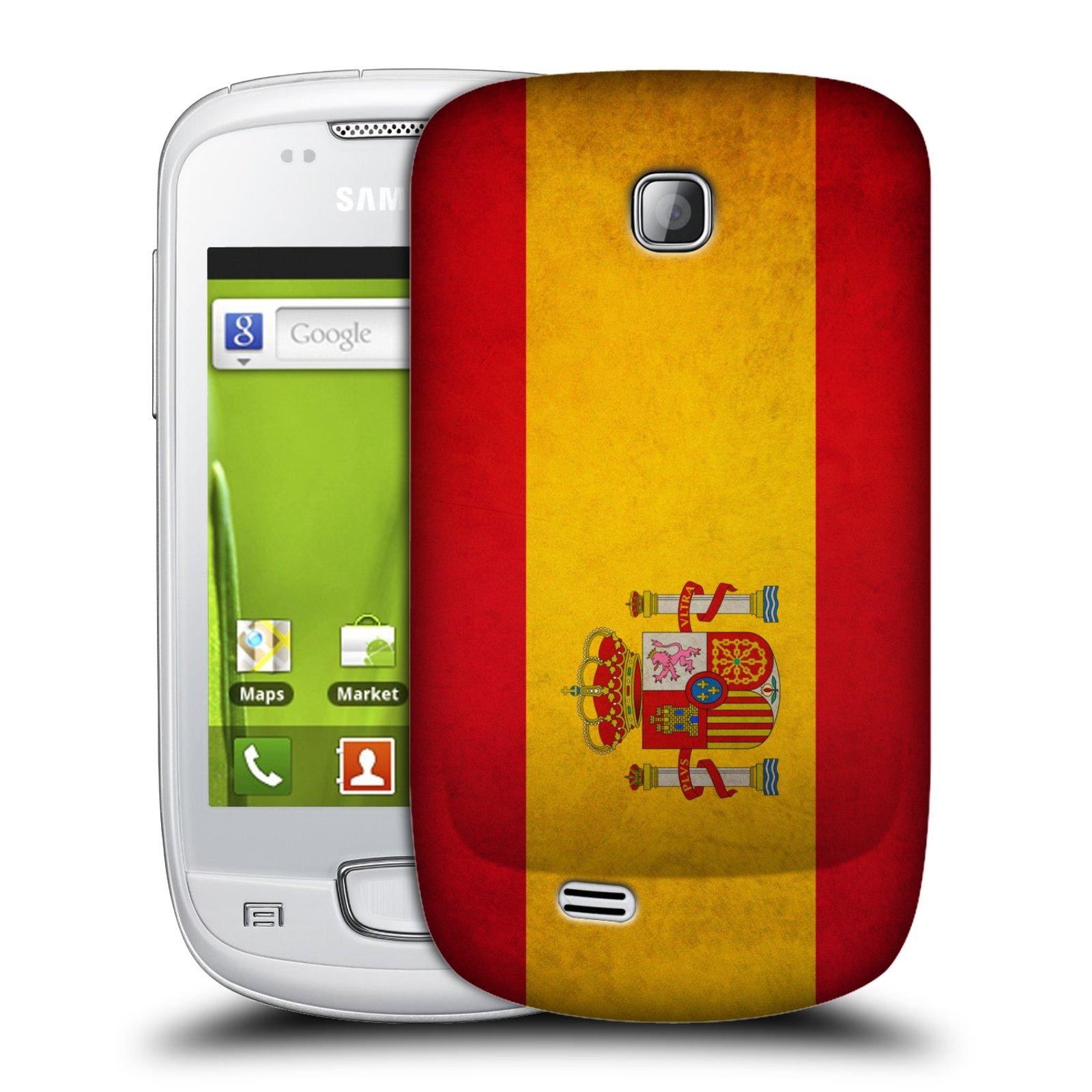 Plastové pouzdro na mobil Samsung Galaxy Mini HEAD CASE VLAJKA ŠPANĚLSKO (Kryt či obal na mobilní telefon Samsung Galaxy Mini GT-S5570 / GT-S5570i)
