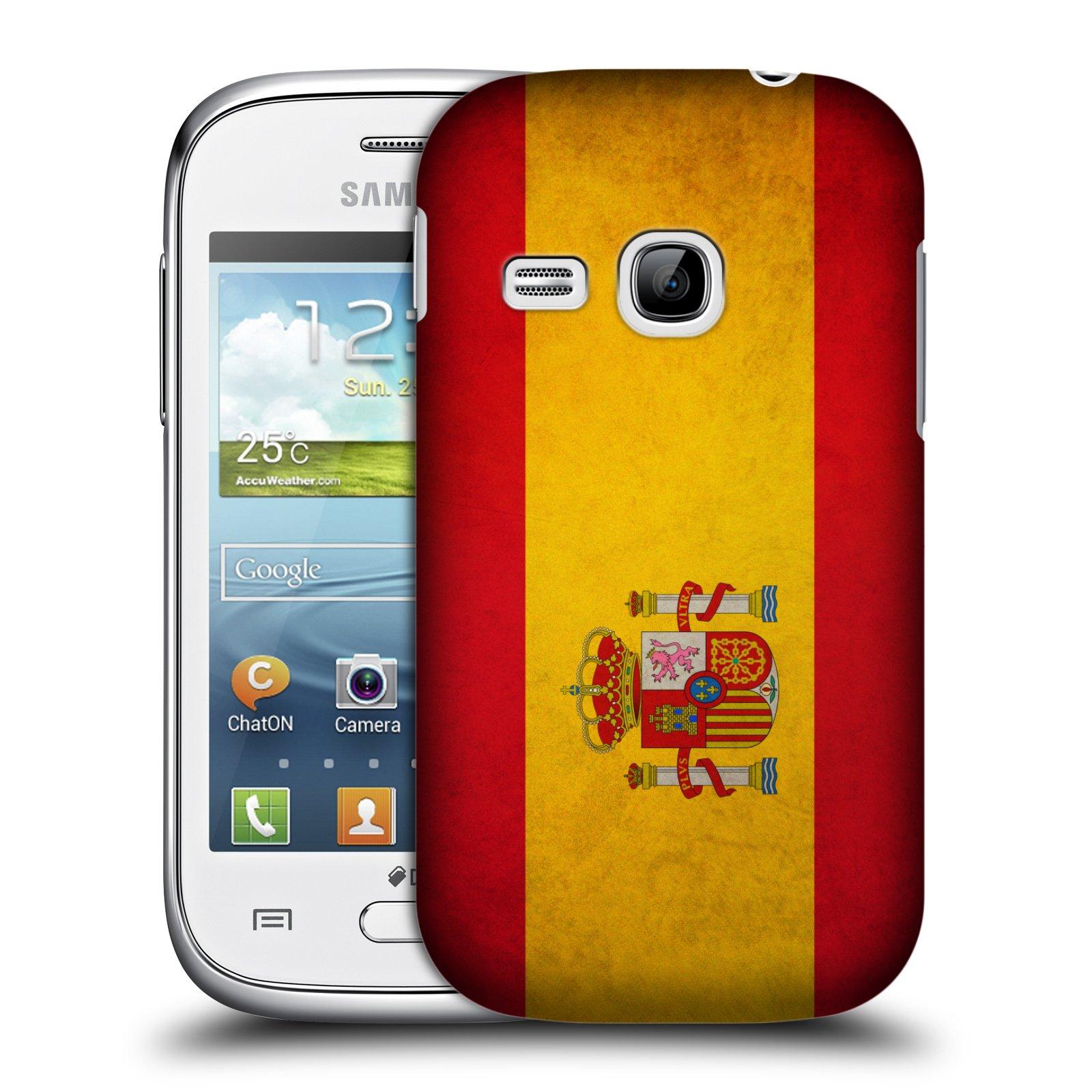 Plastové pouzdro na mobil Samsung Galaxy Young HEAD CASE VLAJKA ŠPANĚLSKO (Kryt či obal na mobilní telefon Samsung Galaxy Young GT-S6310)
