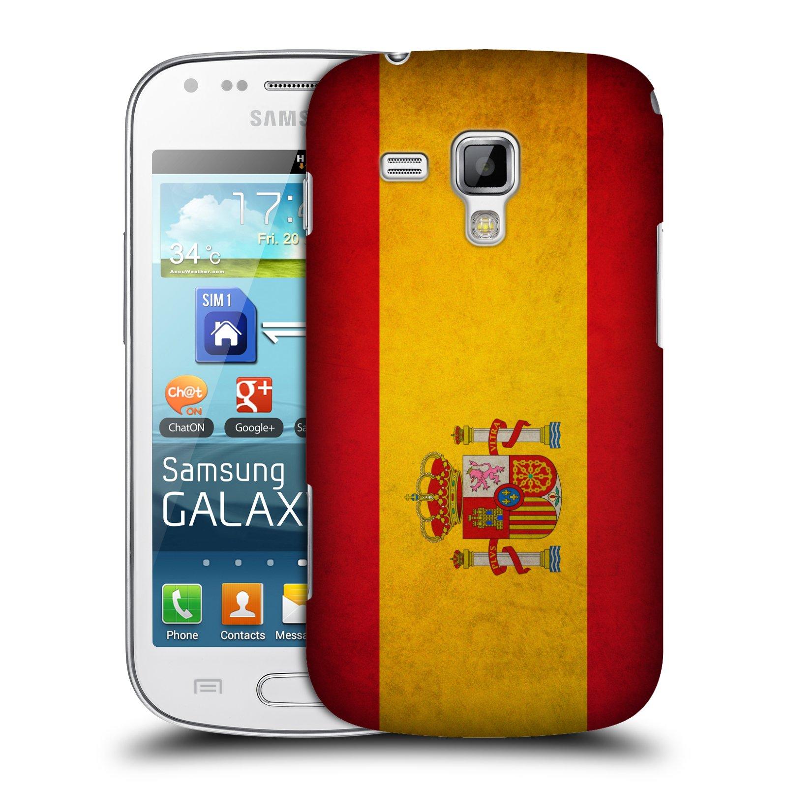 Plastové pouzdro na mobil Samsung Galaxy S Duos HEAD CASE VLAJKA ŠPANĚLSKO (Kryt či obal na mobilní telefon Samsung Galaxy S Duos GT-S7562)