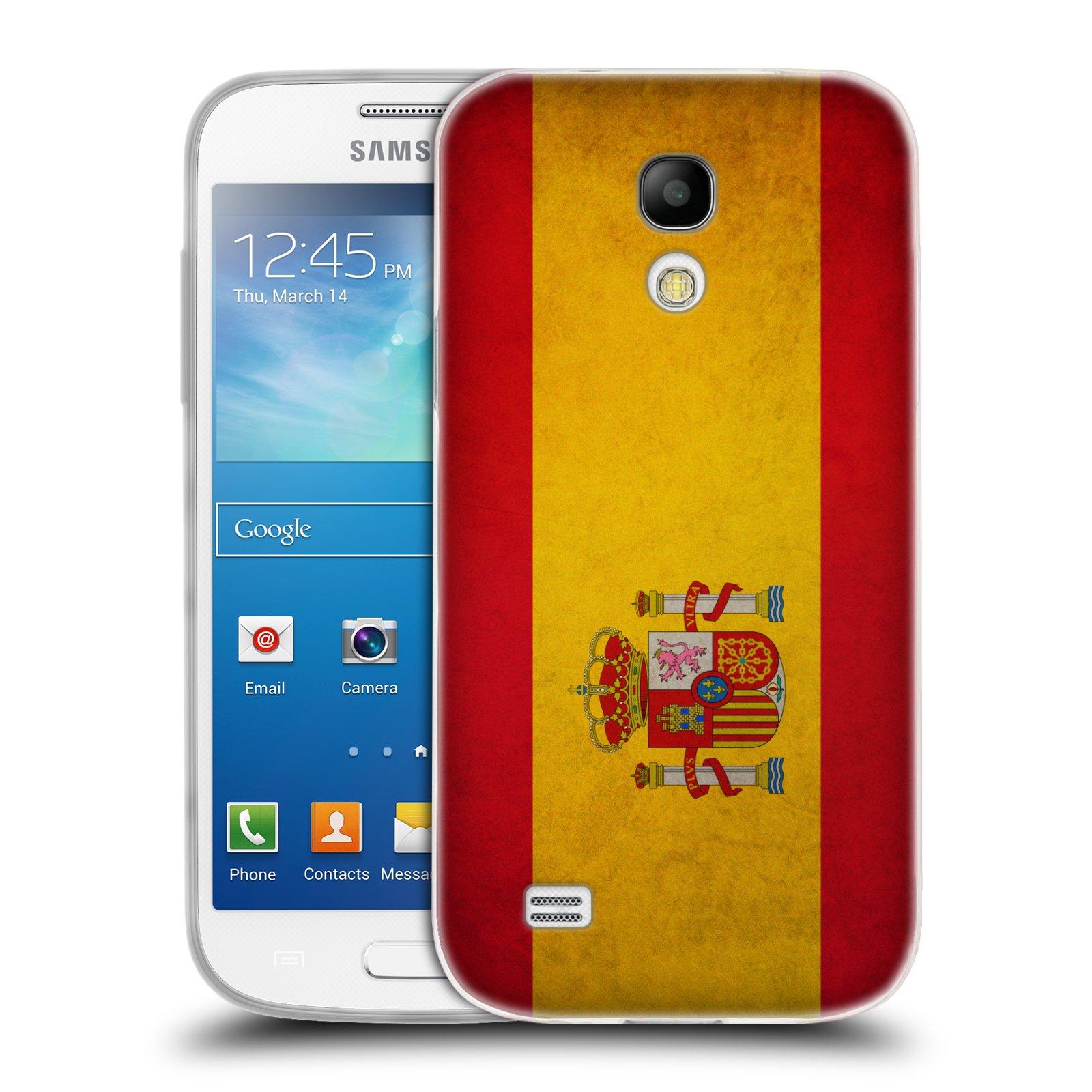 Silikonové pouzdro na mobil Samsung Galaxy S4 Mini HEAD CASE VLAJKA ŠPANĚLSKO (Silikonový kryt či obal na mobilní telefon Samsung Galaxy S4 Mini GT-i9195 / i9190)