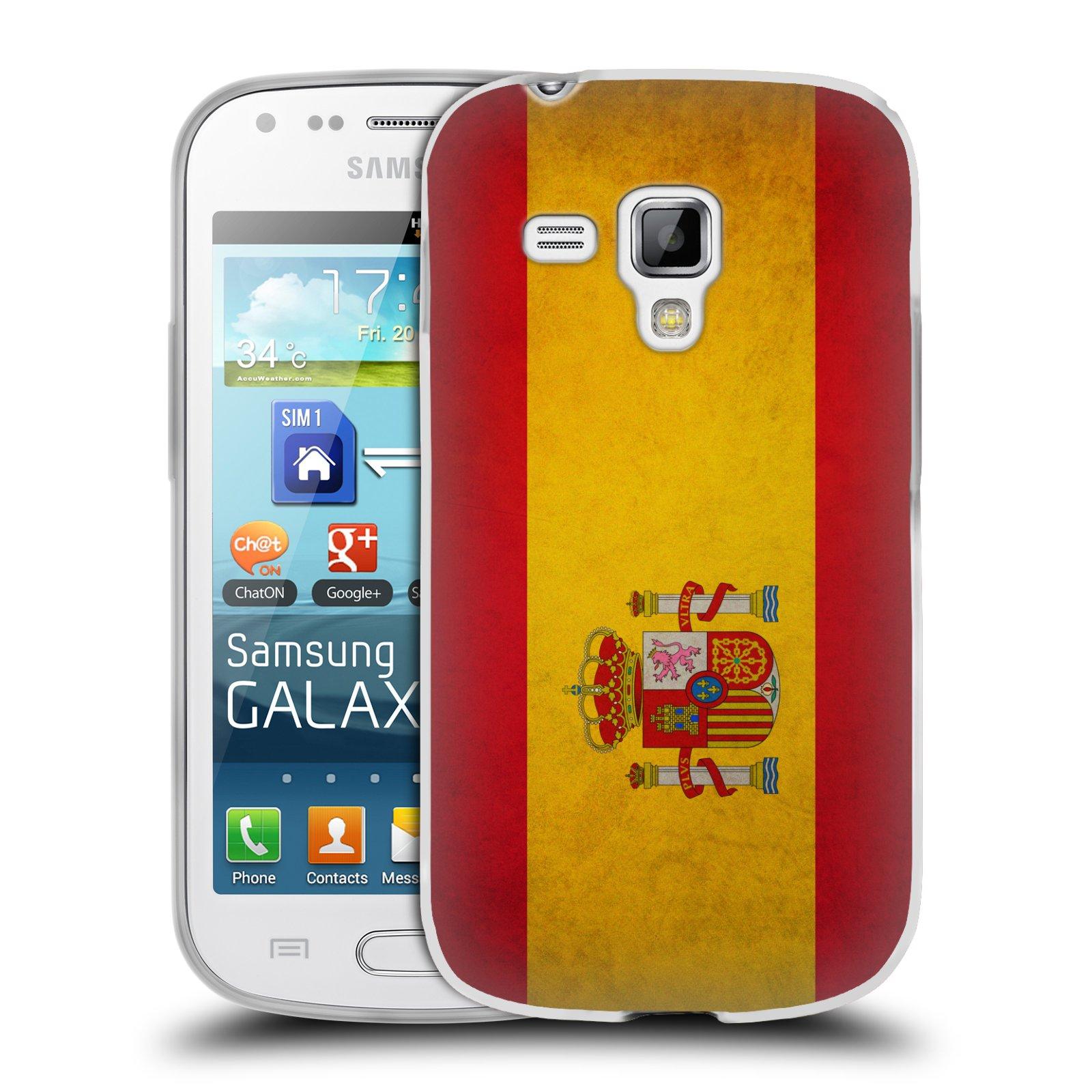 Silikonové pouzdro na mobil Samsung Galaxy Trend Plus HEAD CASE VLAJKA ŠPANĚLSKO (Silikonový kryt či obal na mobilní telefon Samsung Galaxy Trend Plus GT-S7580)