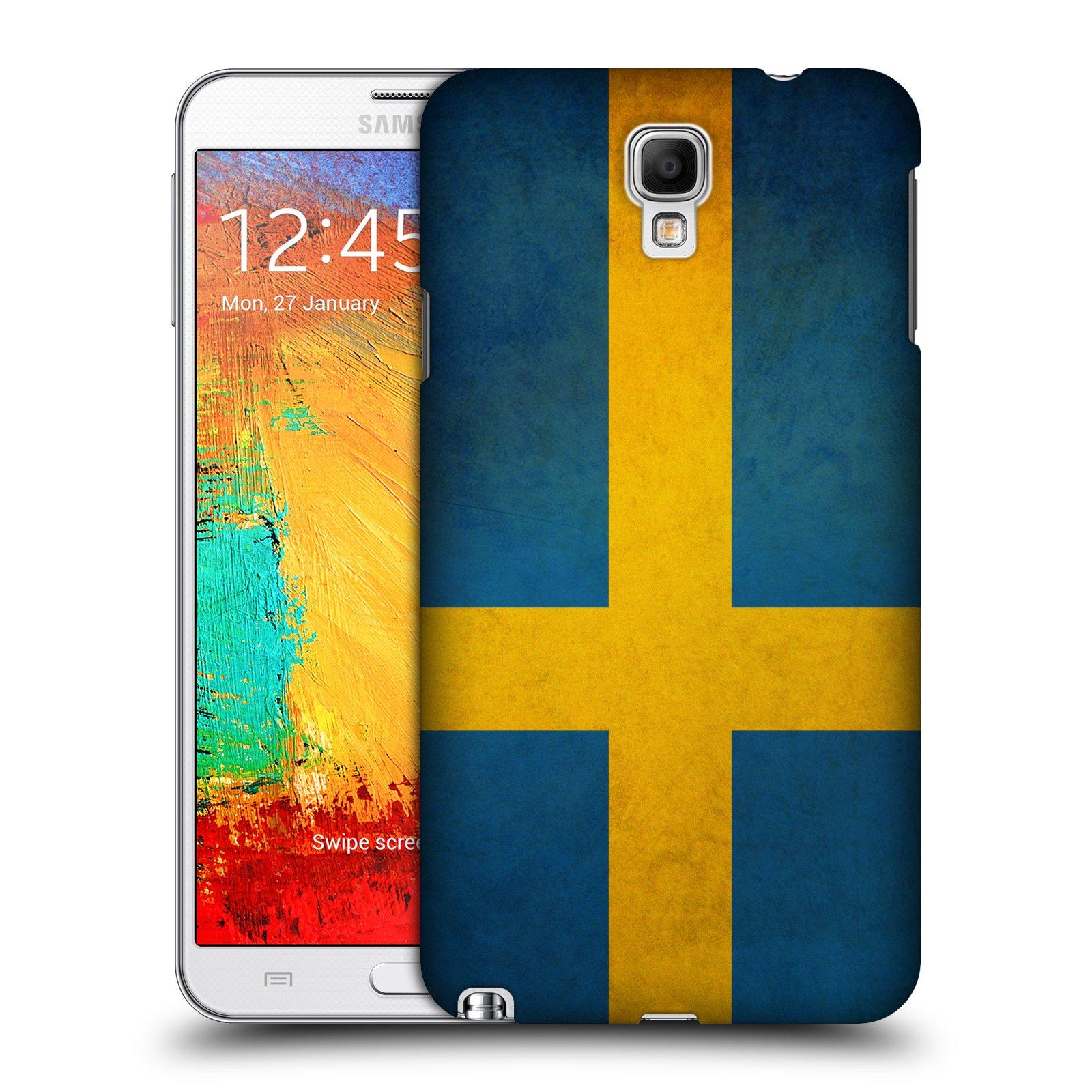 Plastové pouzdro na mobil Samsung Galaxy Note 3 Neo HEAD CASE VLAJKA ŠVÉDSKO (Kryt či obal na mobilní telefon Samsung Galaxy Note 3 Neo SM-N7505)
