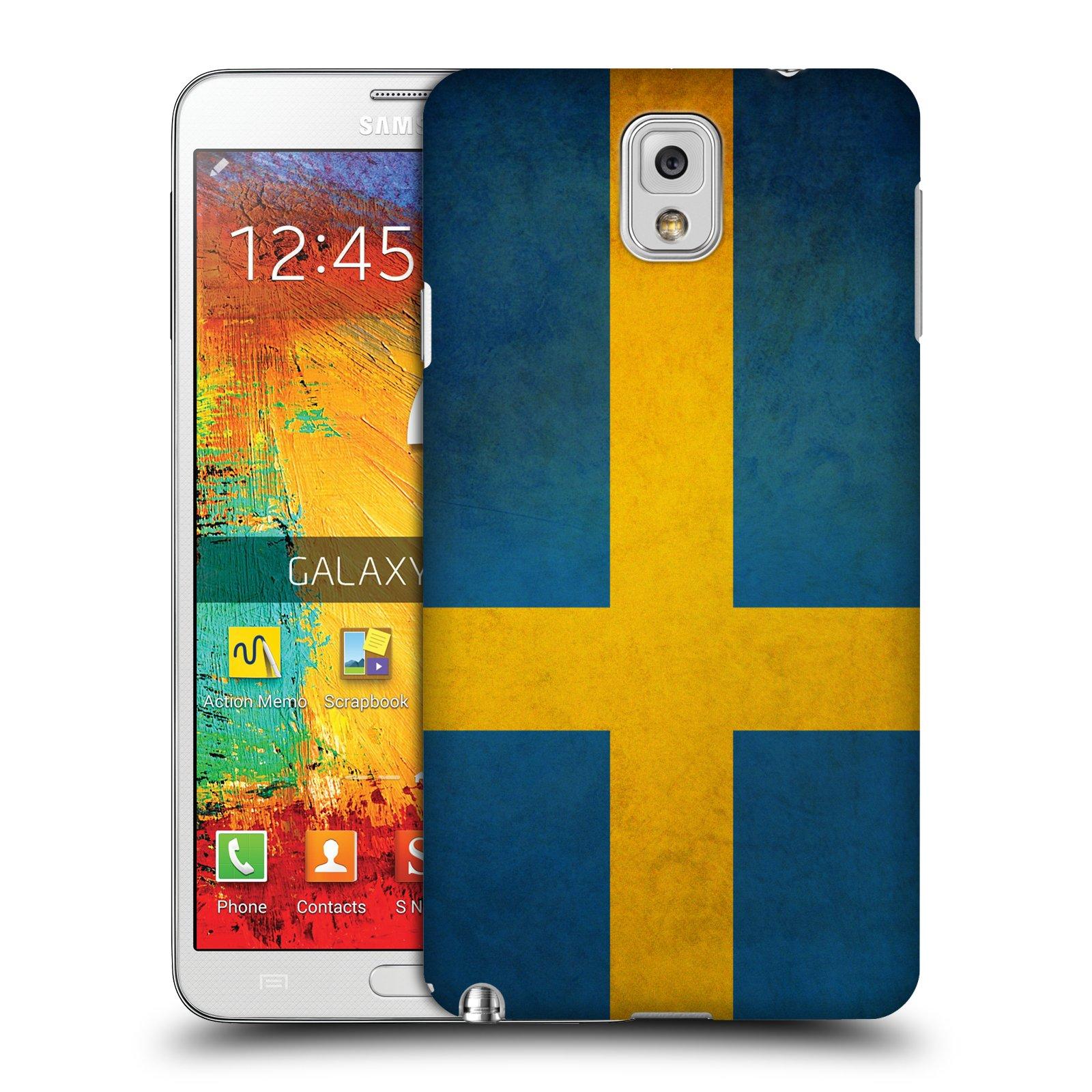 Plastové pouzdro na mobil Samsung Galaxy Note 3 HEAD CASE VLAJKA ŠVÉDSKO (Kryt či obal na mobilní telefon Samsung Galaxy Note 3 SM-N9005)