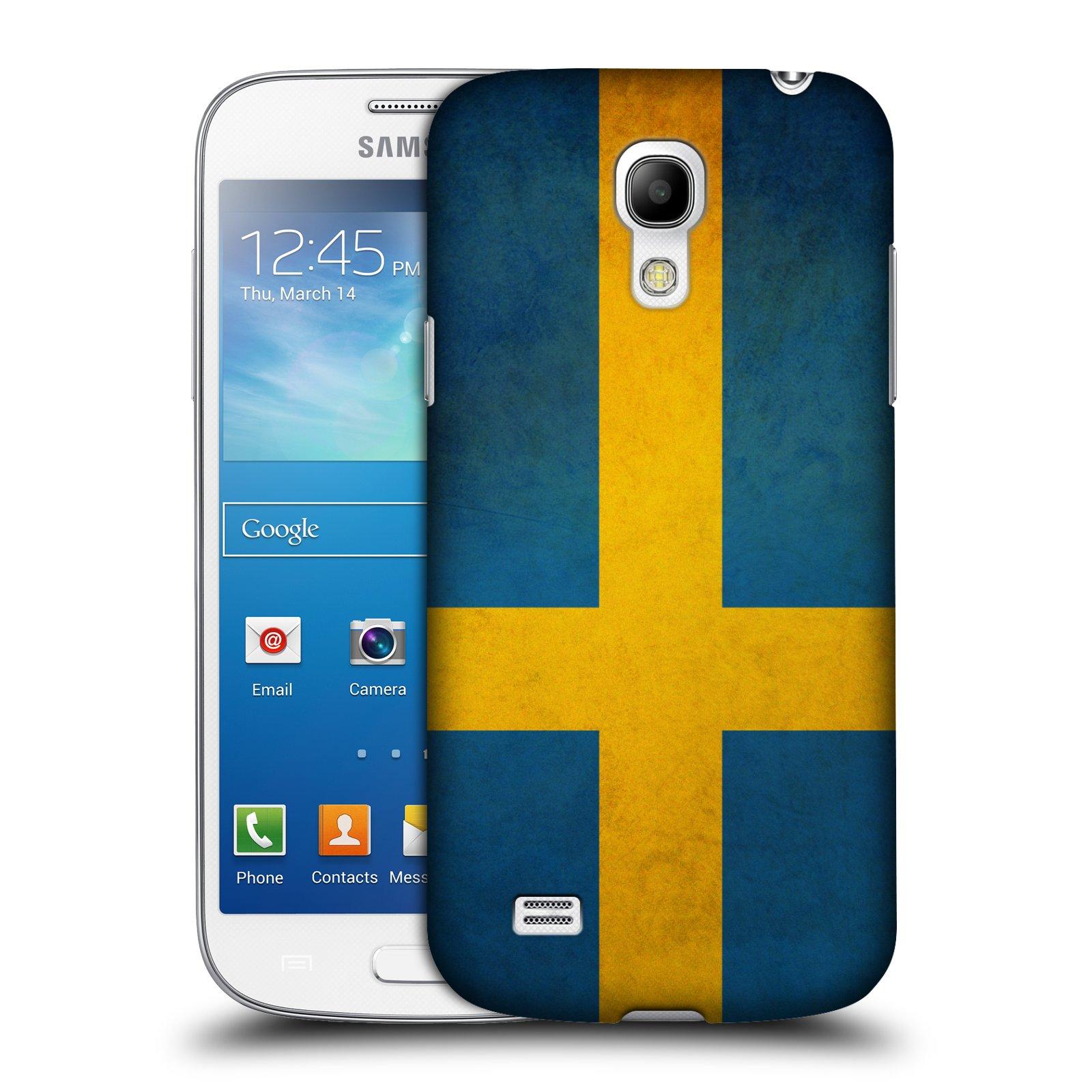 Plastové pouzdro na mobil Samsung Galaxy S4 Mini HEAD CASE VLAJKA ŠVÉDSKO (Kryt či obal na mobilní telefon Samsung Galaxy S4 Mini GT-i9195 / i9190)
