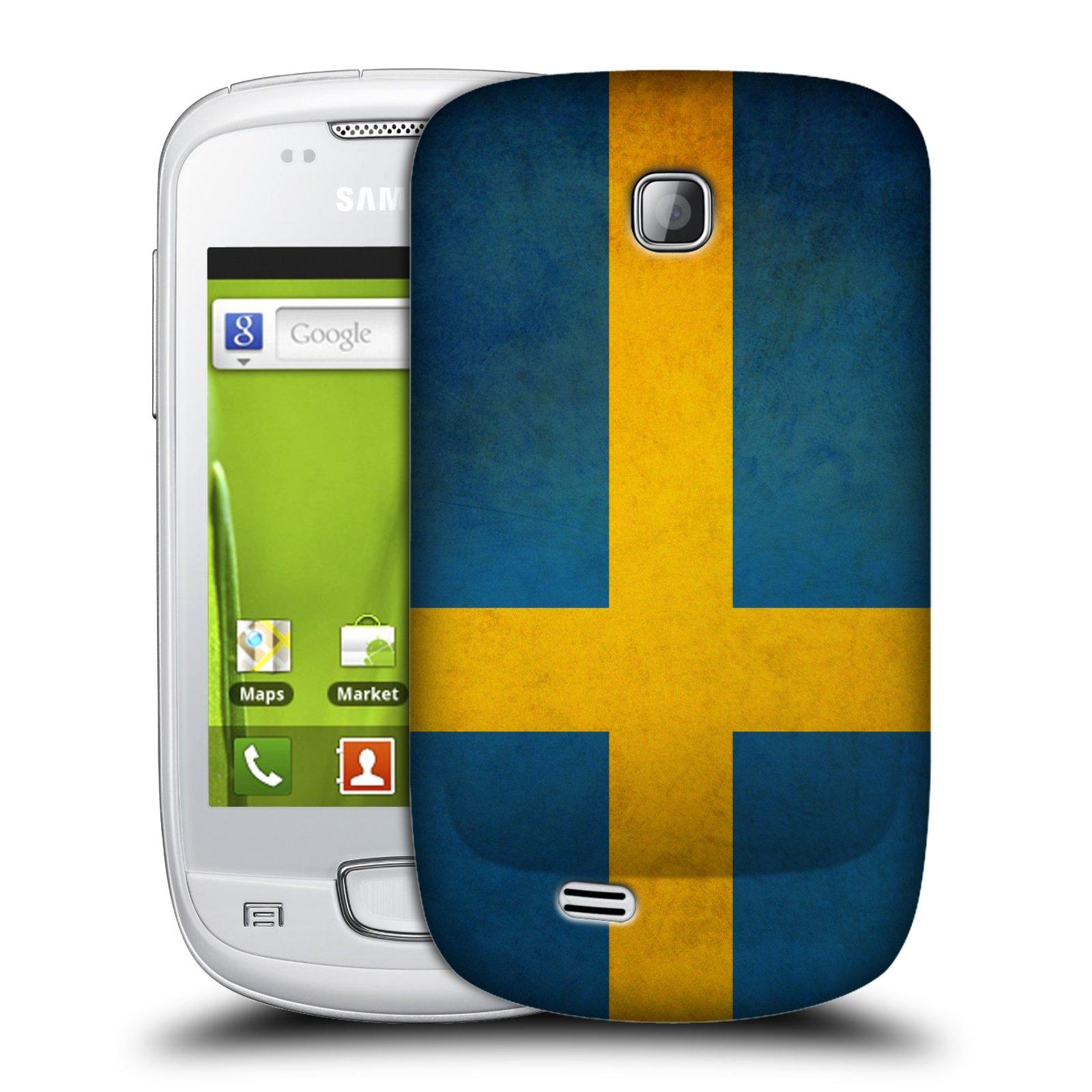 Plastové pouzdro na mobil Samsung Galaxy Mini HEAD CASE VLAJKA ŠVÉDSKO (Kryt či obal na mobilní telefon Samsung Galaxy Mini GT-S5570 / GT-S5570i)