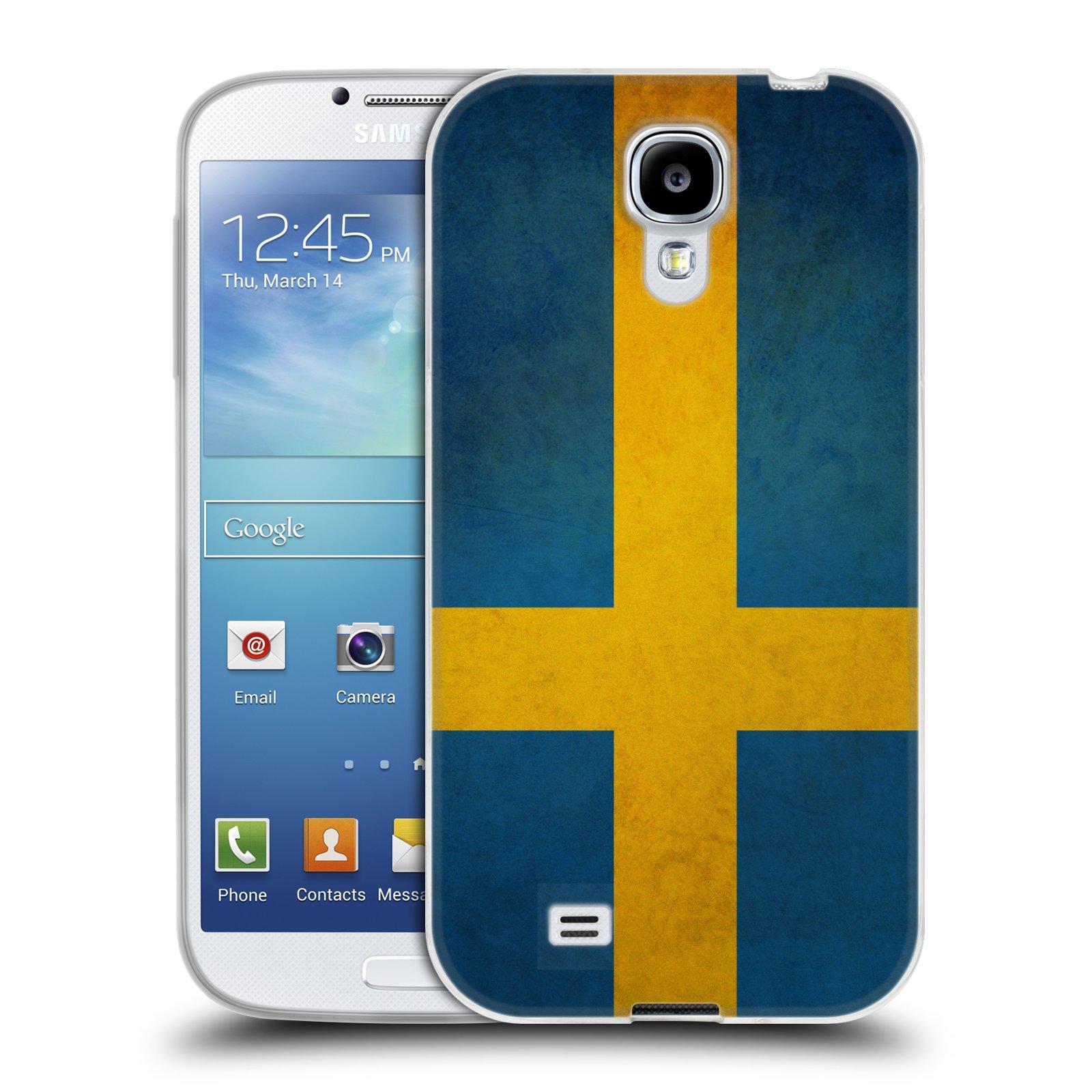 Silikonové pouzdro na mobil Samsung Galaxy S4 HEAD CASE VLAJKA ŠVÉDSKO (Silikonový kryt či obal na mobilní telefon Samsung Galaxy S4 GT-i9505 / i9500)