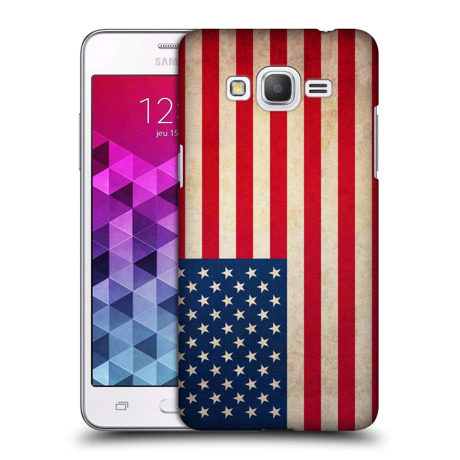 Plastové pouzdro na mobil Samsung Galaxy Grand Prime VE HEAD CASE VLAJKA USA
