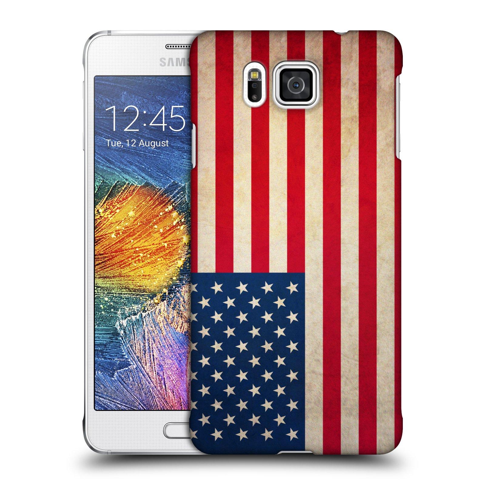 Plastové pouzdro na mobil Samsung Galaxy Alpha HEAD CASE VLAJKA USA