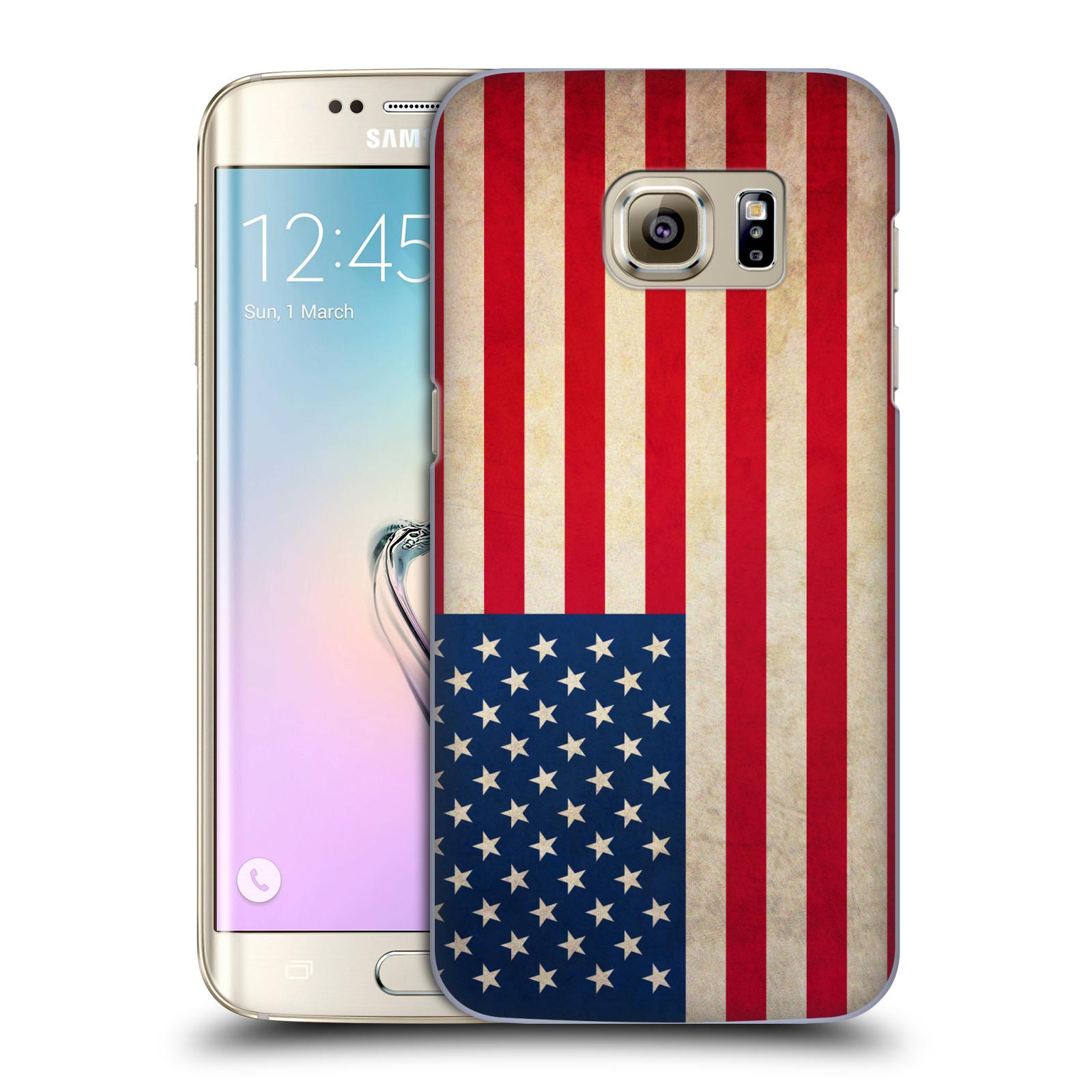 Plastové pouzdro na mobil Samsung Galaxy S7 Edge HEAD CASE VLAJKA USA (Kryt či obal na mobilní telefon Samsung Galaxy S7 Edge SM-G935F)
