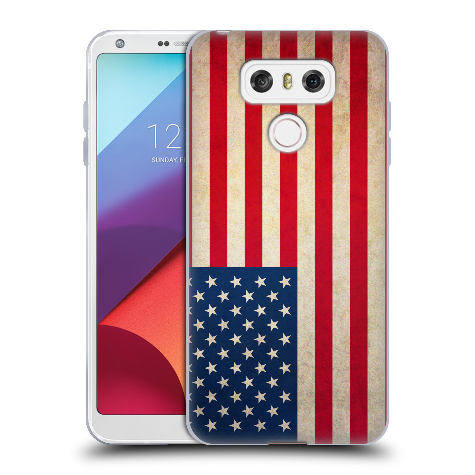 Silikonové pouzdro na mobil LG G6 - Head Case VLAJKA USA (Silikonový kryt či obal na mobilní telefon LG G6 H870 / LG G6 Dual SIM H870DS)